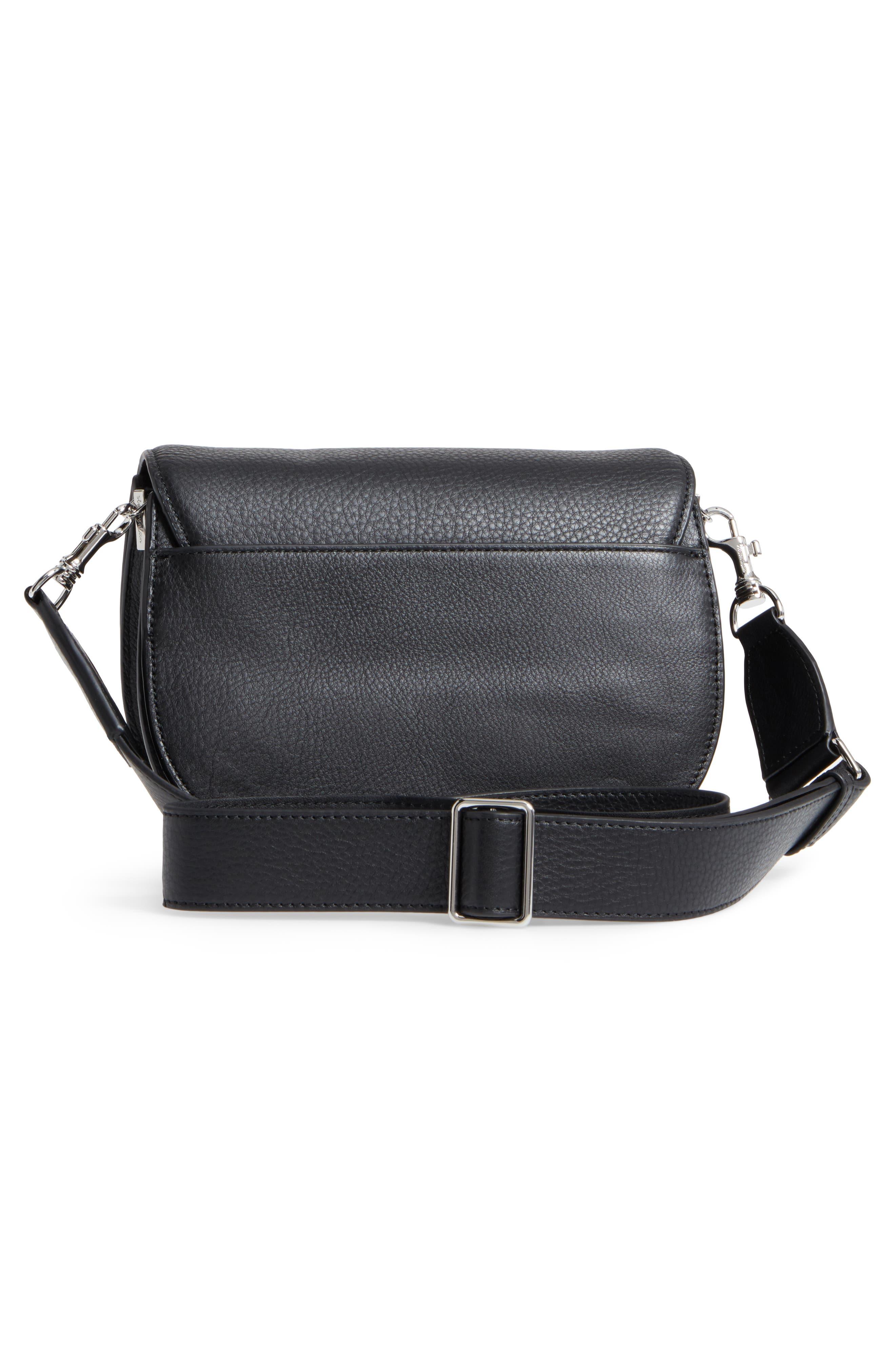 Landon Leather Crossbody Saddle Bag,                             Alternate thumbnail 9, color,