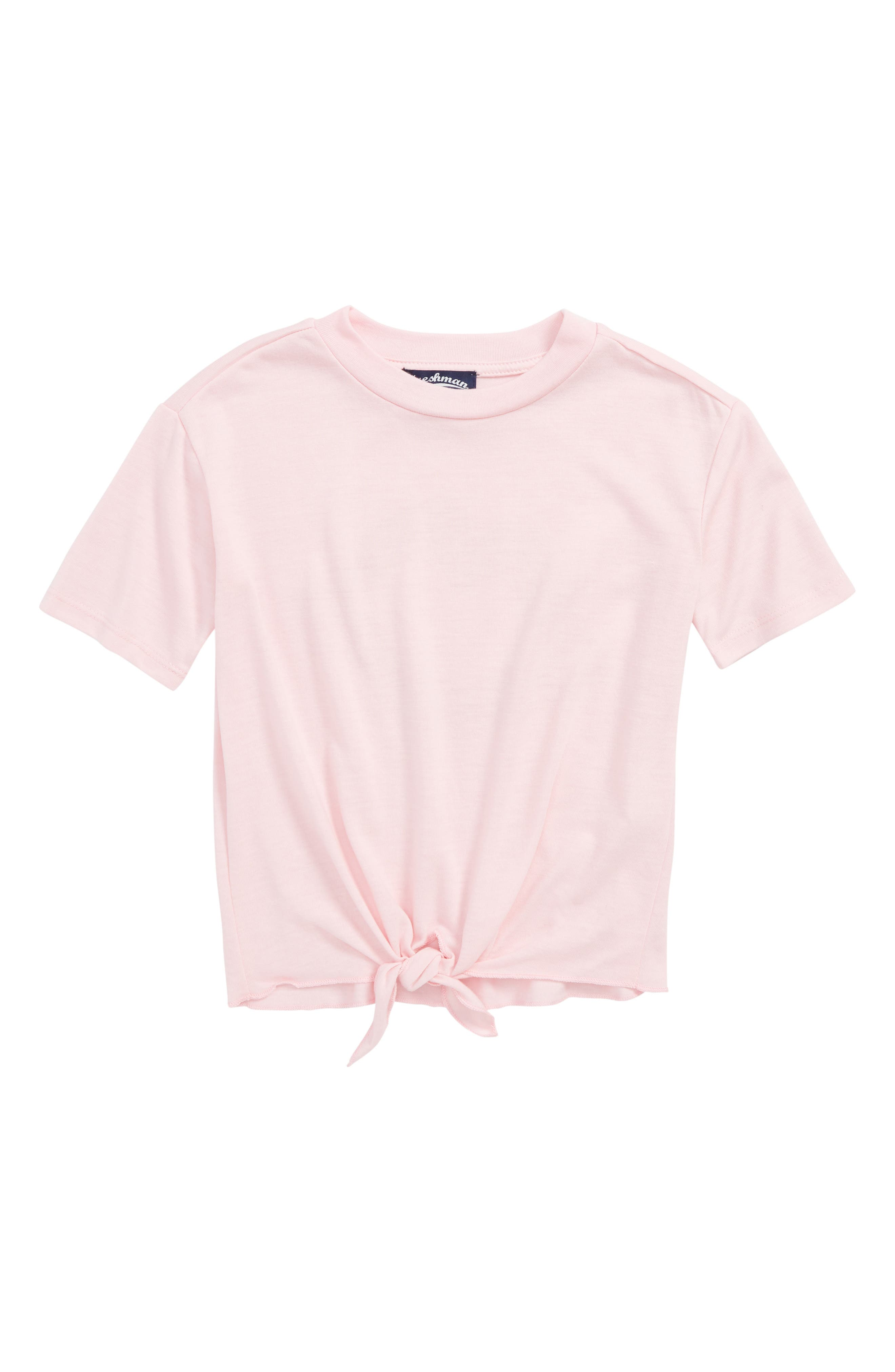 FRESHMAN Knot Front Tee, Main, color, 664