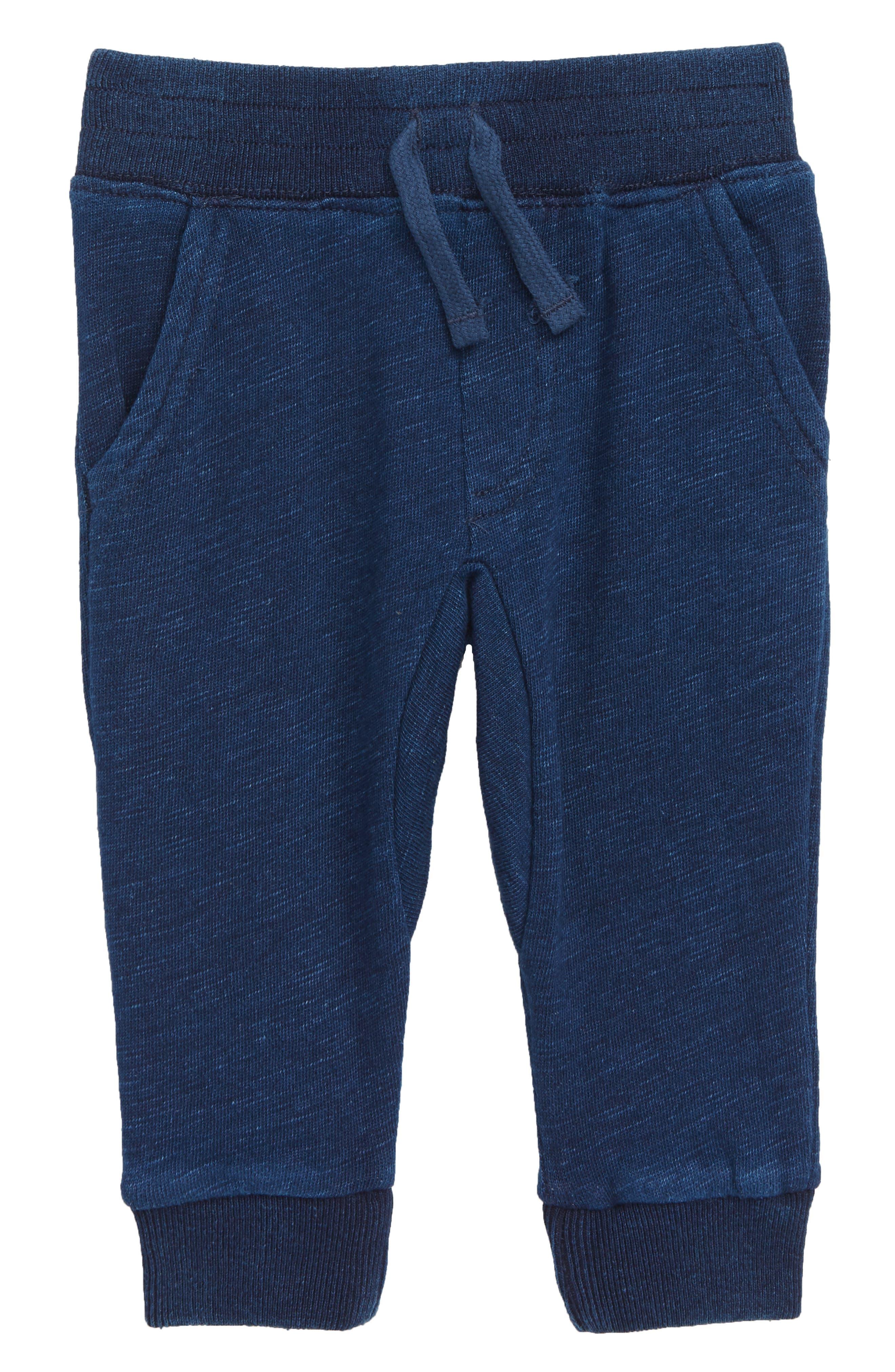 Indigo French Terry Jogger Pants,                         Main,                         color, DARK STONE INDIGO
