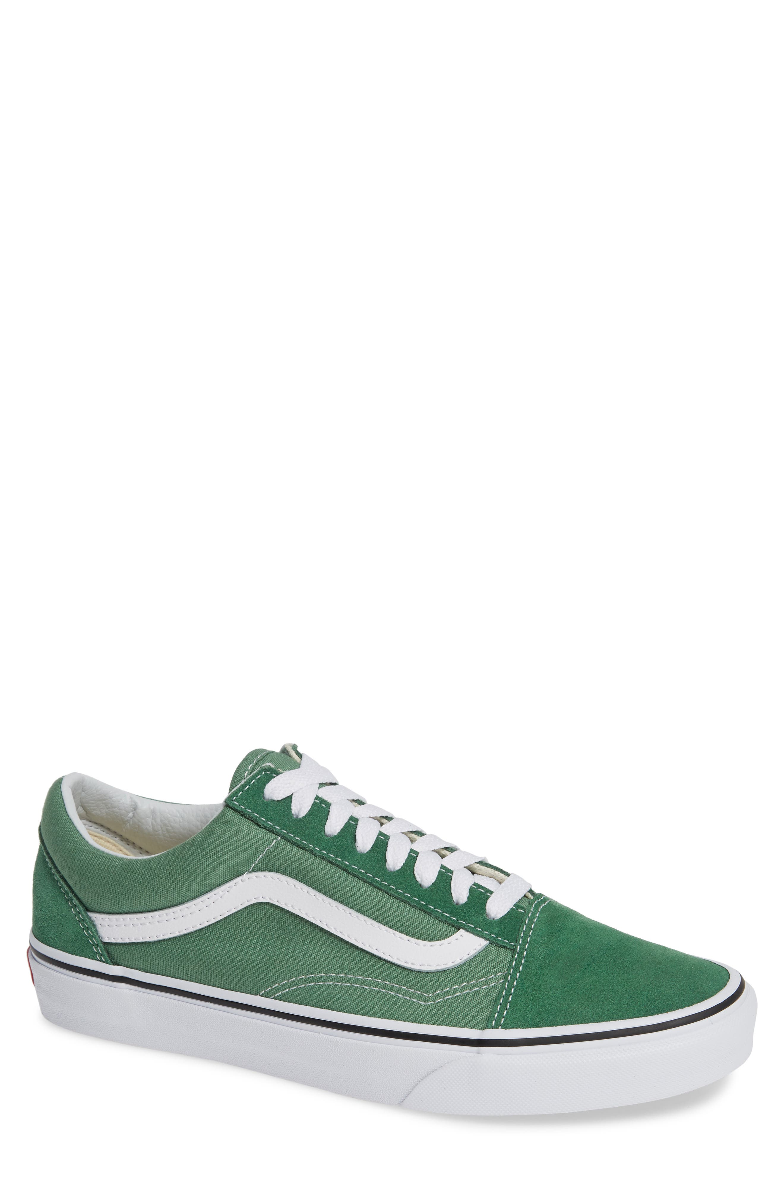 'Old Skool' Sneaker,                             Main thumbnail 1, color,                             DEEP GRASS GREEN/ TRUE WHITE
