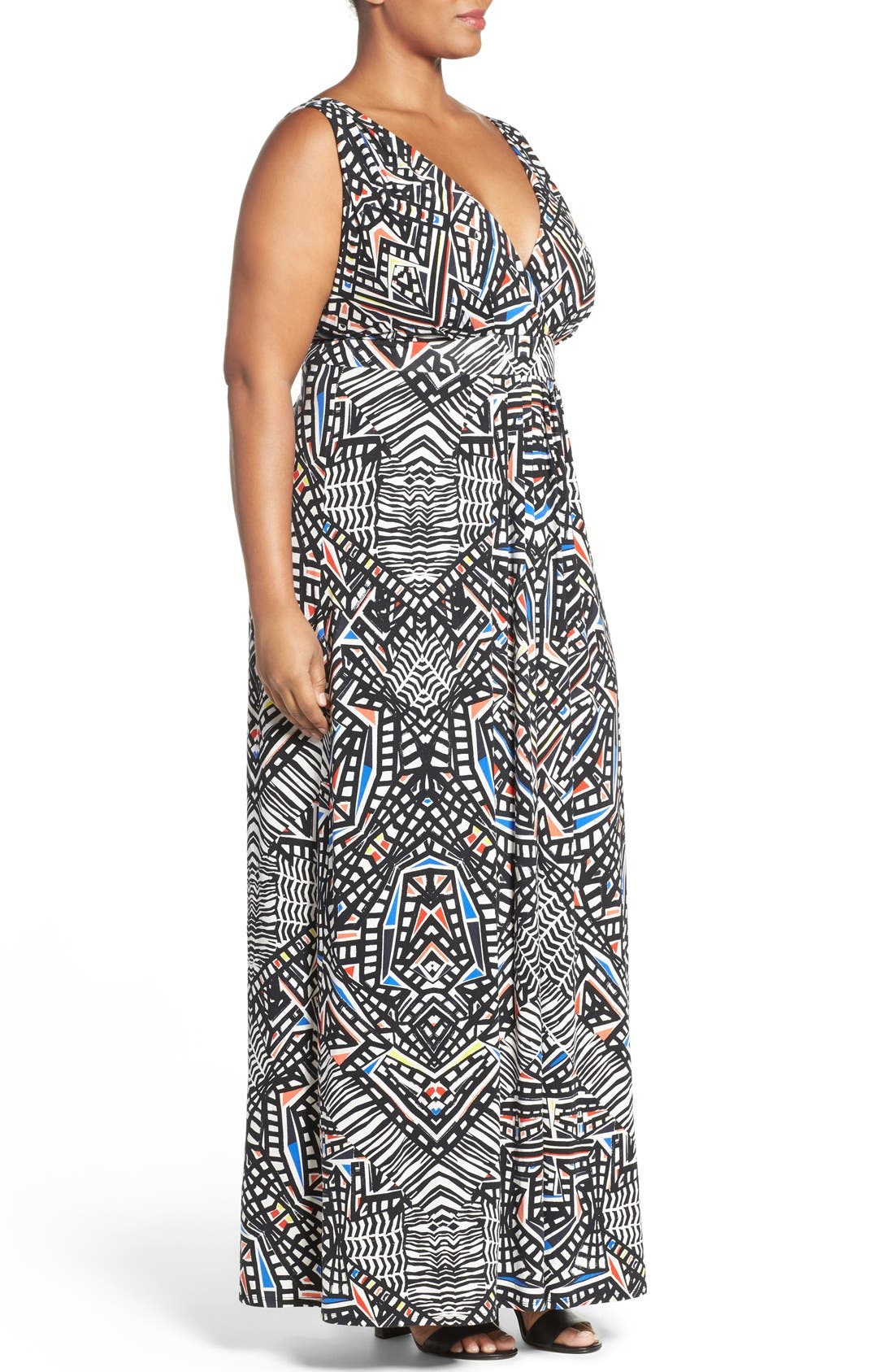 Chloe Empire Waist Maxi Dress,                             Alternate thumbnail 24, color,