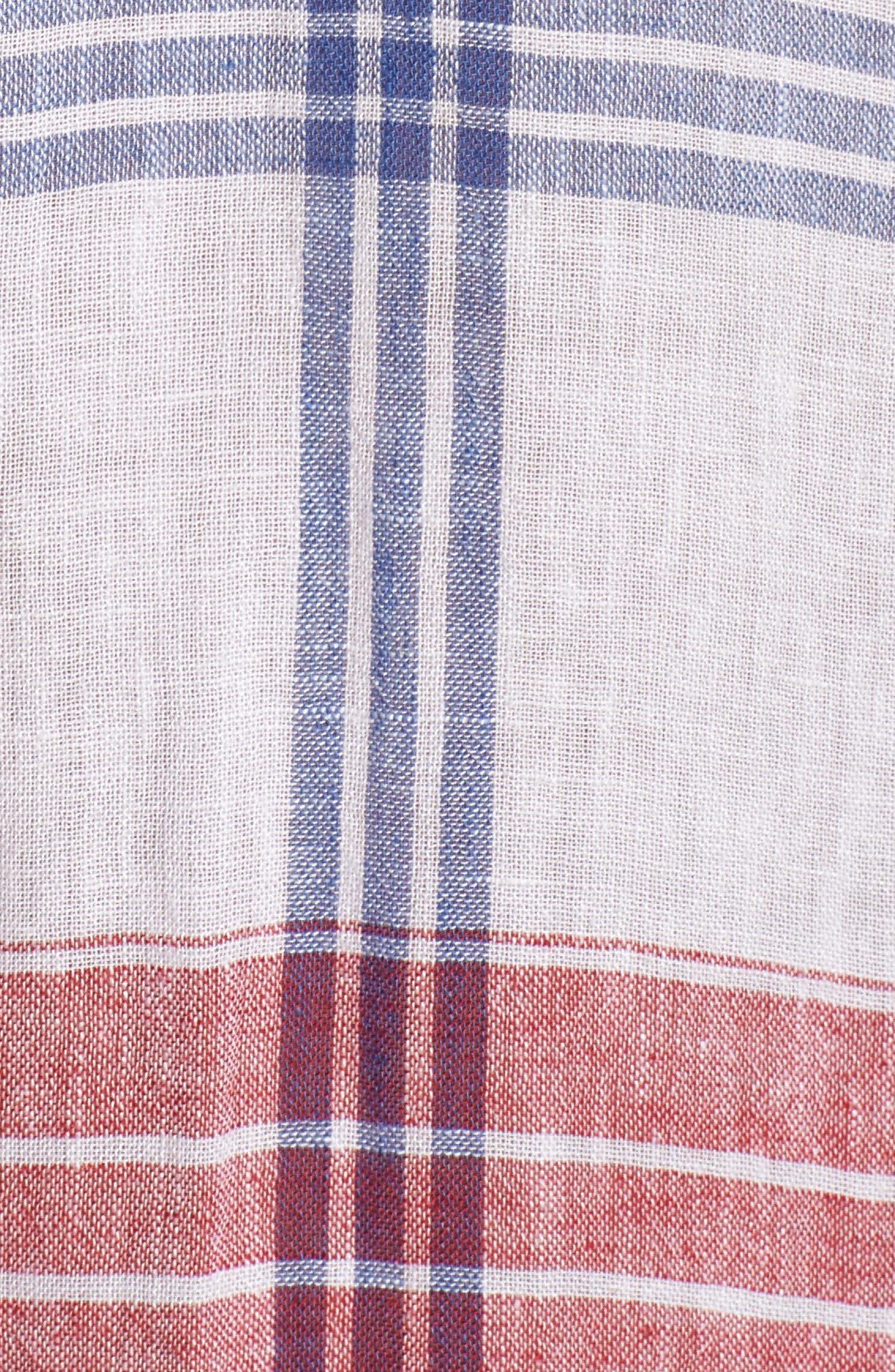 Charli Shirt,                             Alternate thumbnail 6, color,                             CARMINE BLUE WHITE