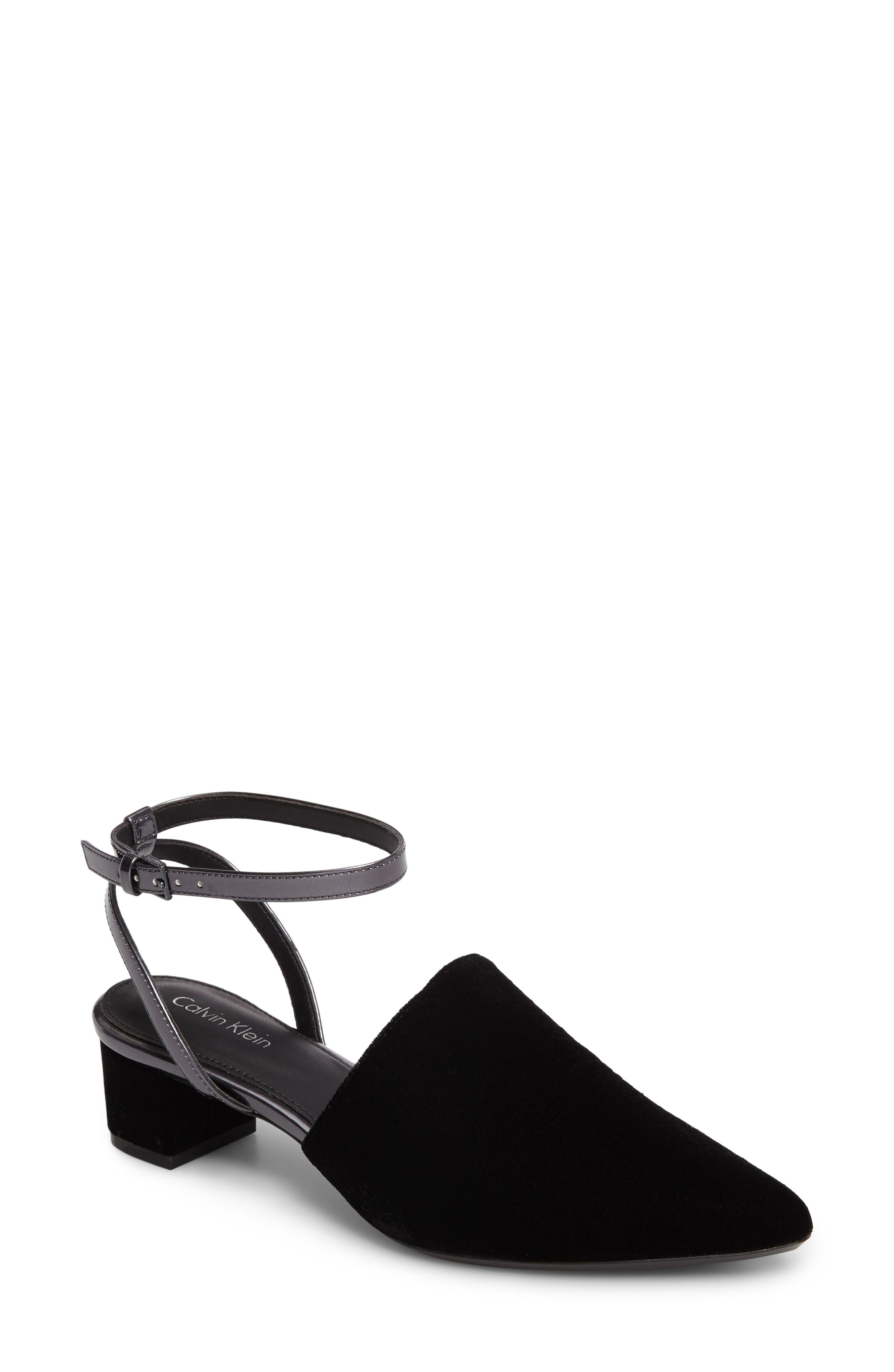 Ginetta Ankle Strap Pump,                             Main thumbnail 1, color,                             001