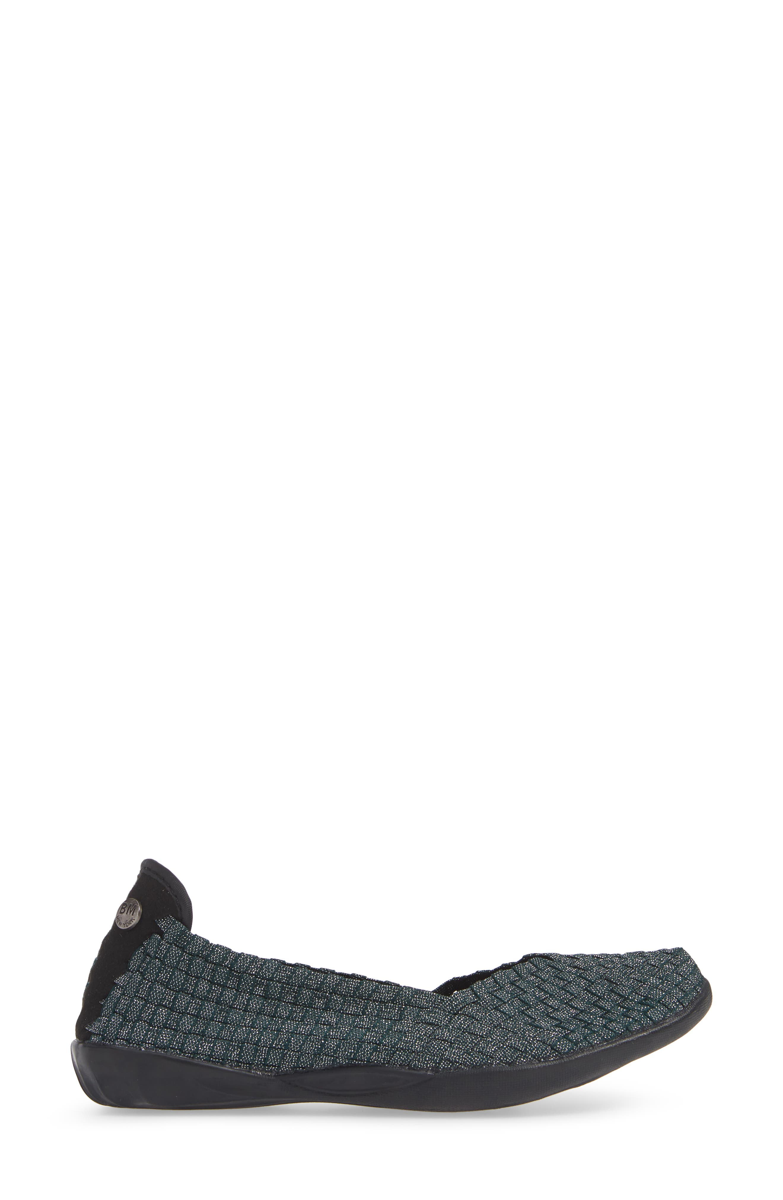 Catwalk Sneaker,                             Alternate thumbnail 3, color,                             DEEP GREEN SHIMMER FABRIC