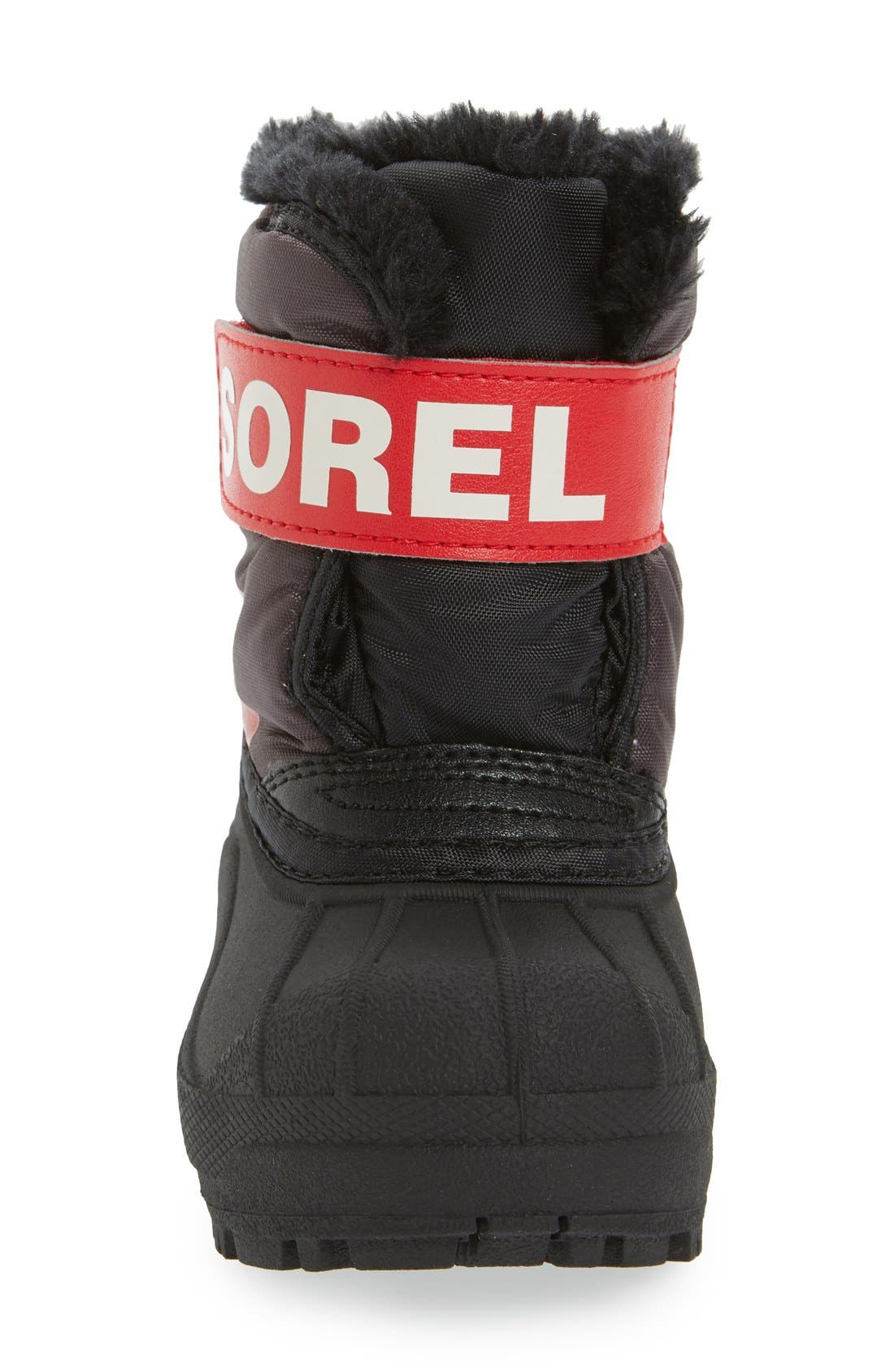 'Snow Commander' Boot,                             Alternate thumbnail 4, color,                             DARK GREY/ BRIGHT RED