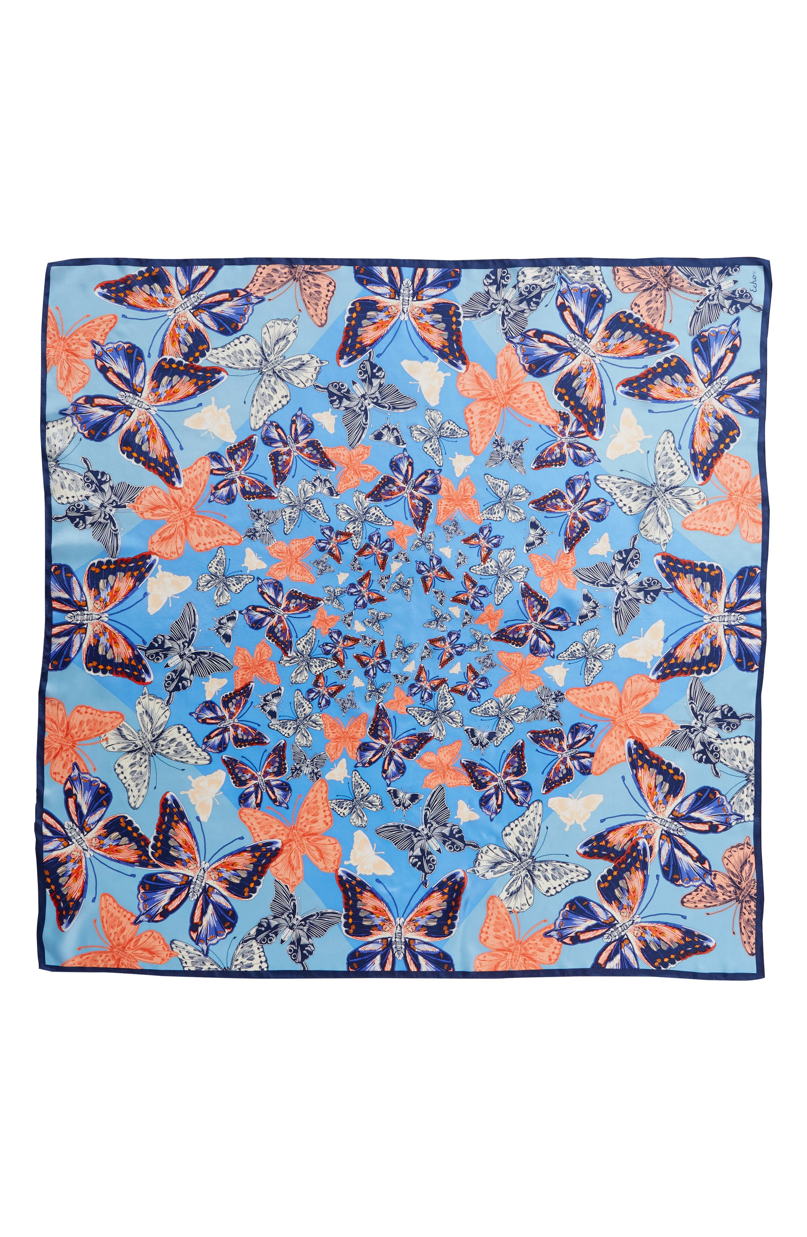 Butterfly Silk Scarf,                             Alternate thumbnail 3, color,                             425