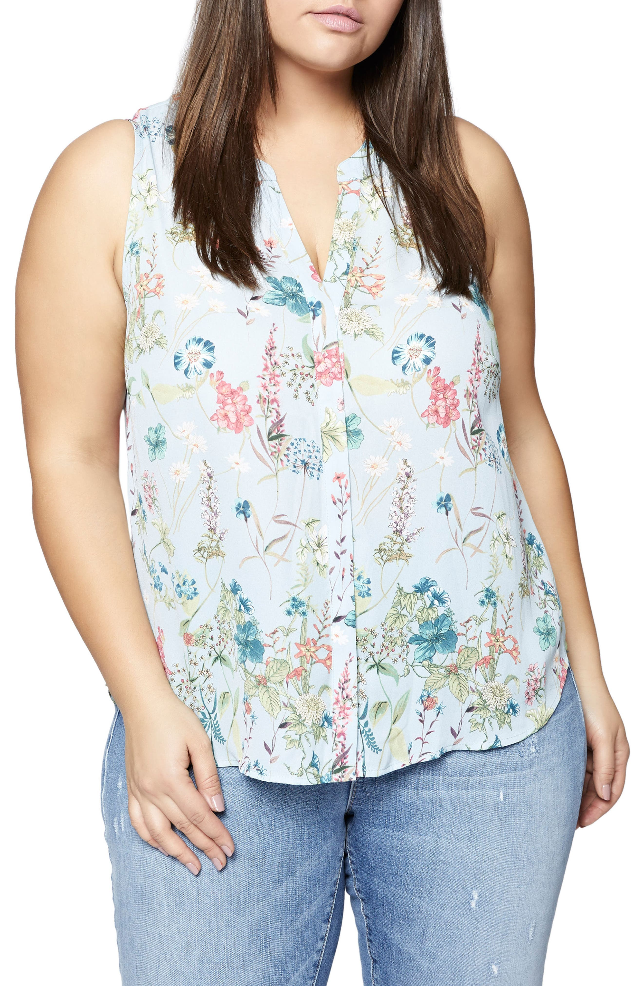 Craft Floral Print Shell,                         Main,                         color, 450