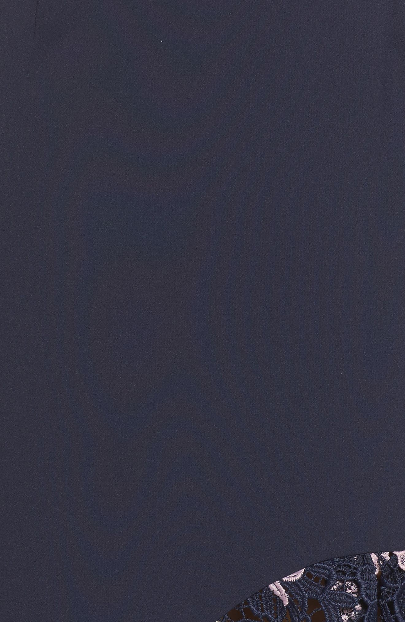Botanic Bloom Lace Asymmetric Skirt,                             Alternate thumbnail 5, color,                             413