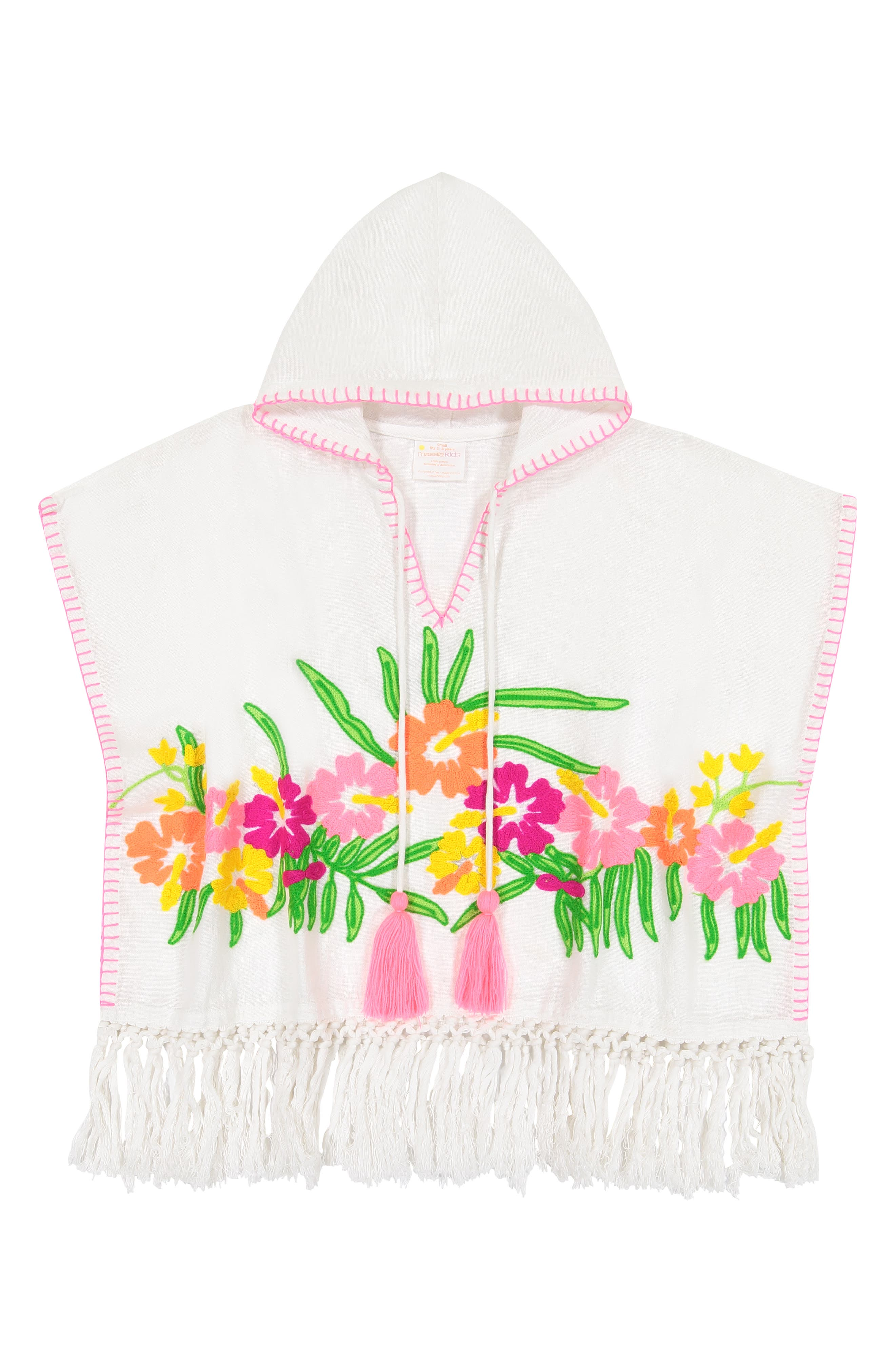Infant Girls Masala Baby Orchid Blooms Hooded CoverUp Caftan