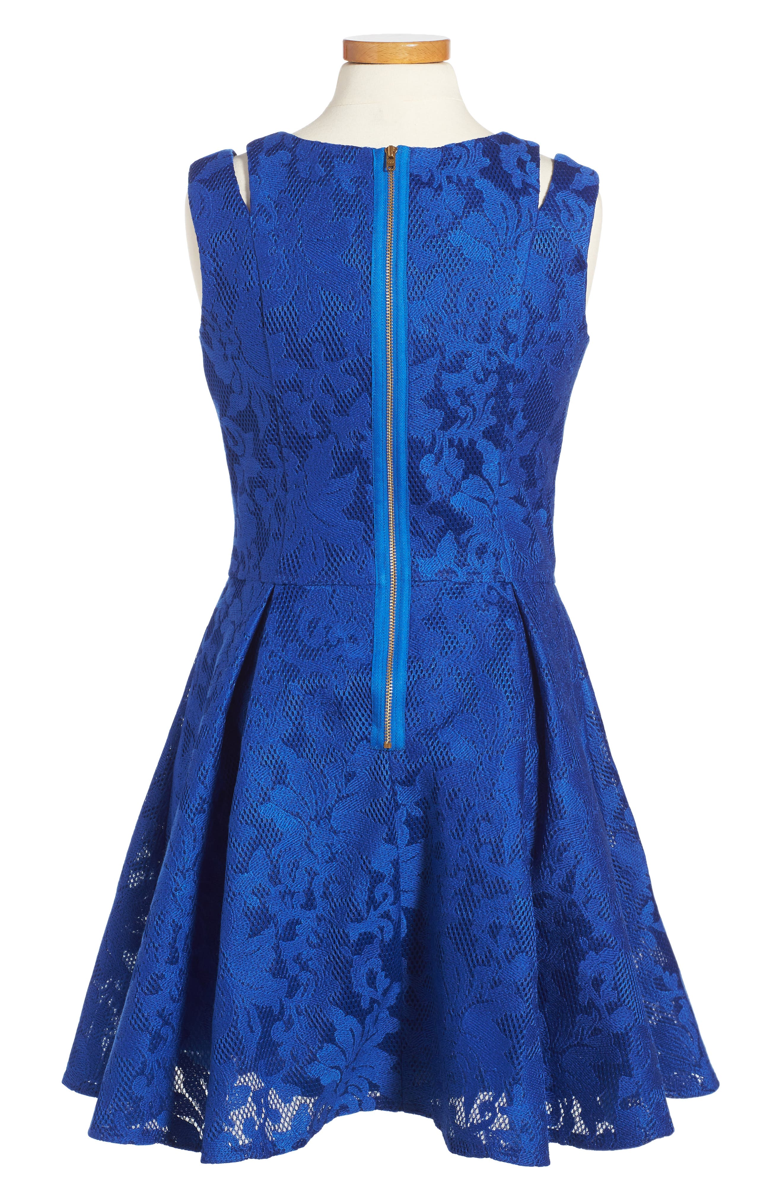 Embroidered Techno Dress,                             Alternate thumbnail 3, color,                             430