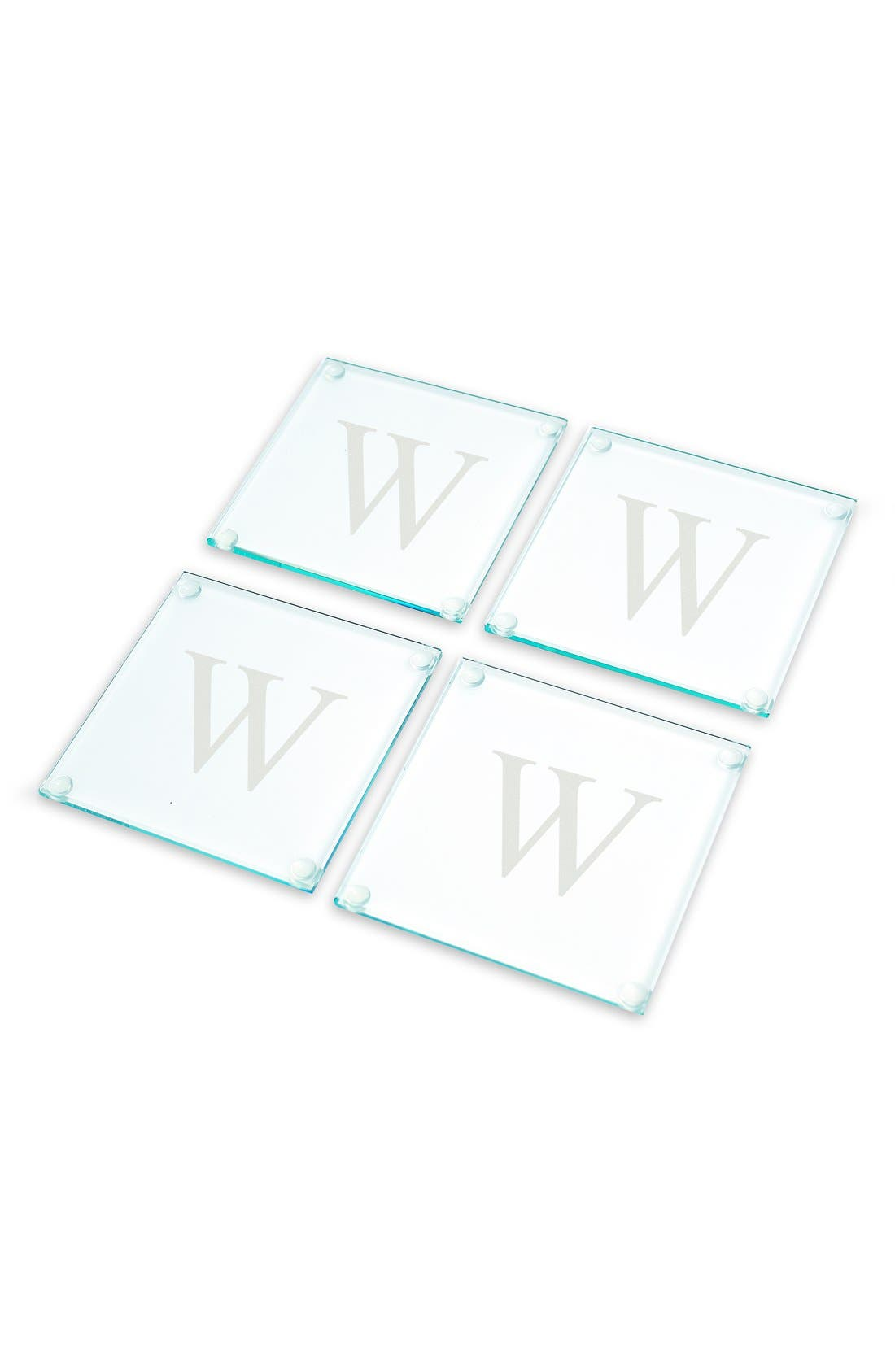 Monogram Glass Coasters,                             Alternate thumbnail 29, color,