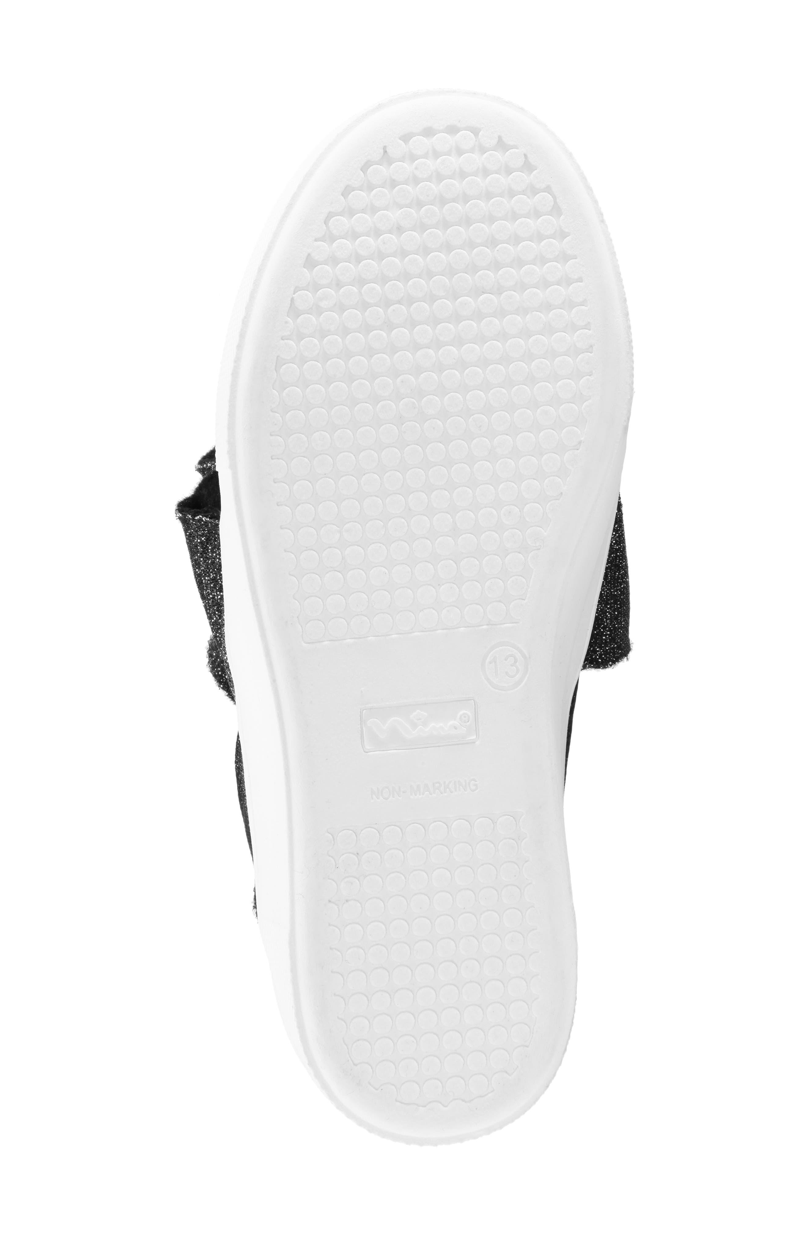 Ivani Slip-On Sneaker,                             Alternate thumbnail 6, color,                             BLACK SPARKLE FABRIC
