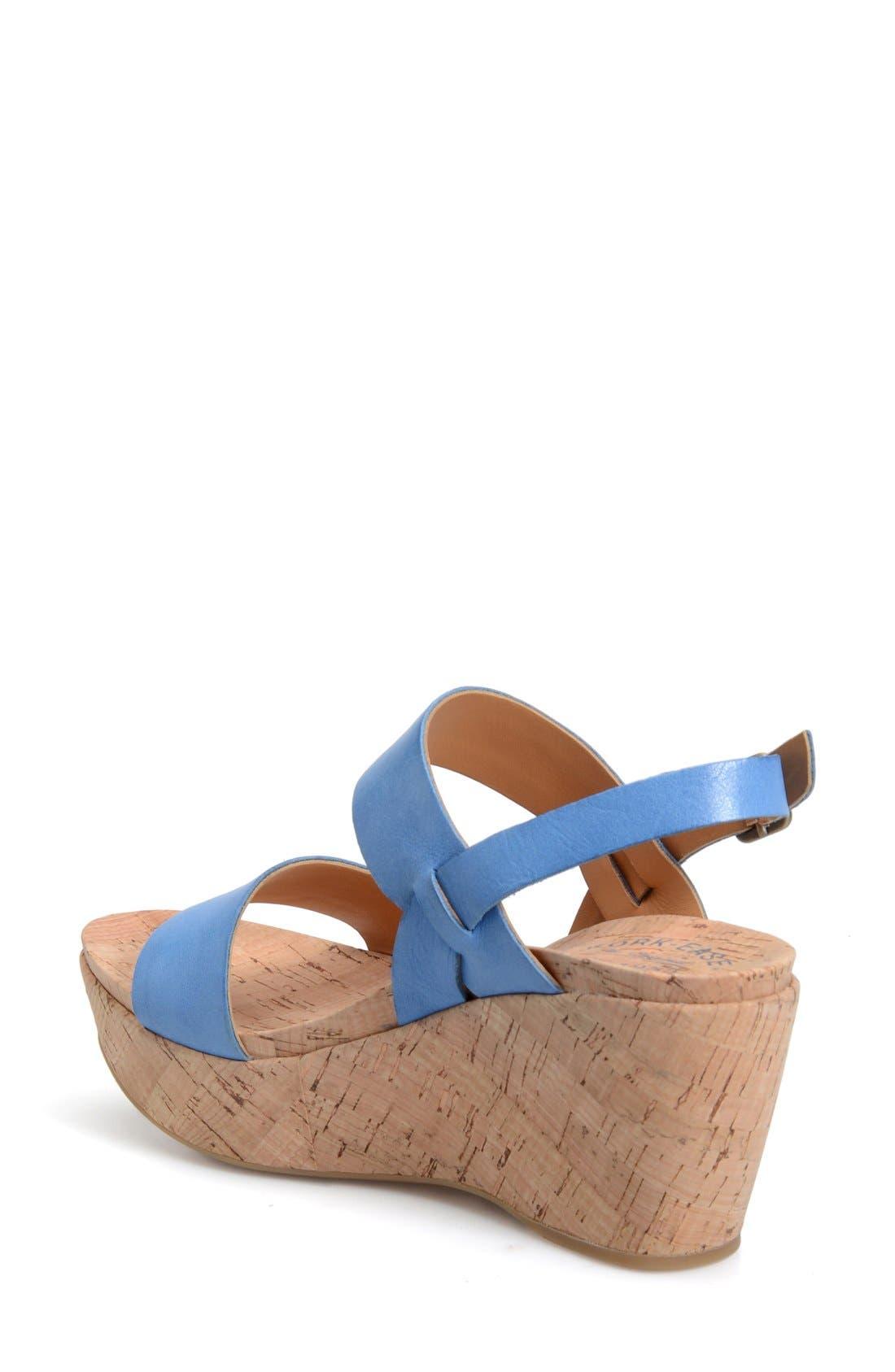 'Austin' Slingback Wedge Sandal,                             Alternate thumbnail 18, color,