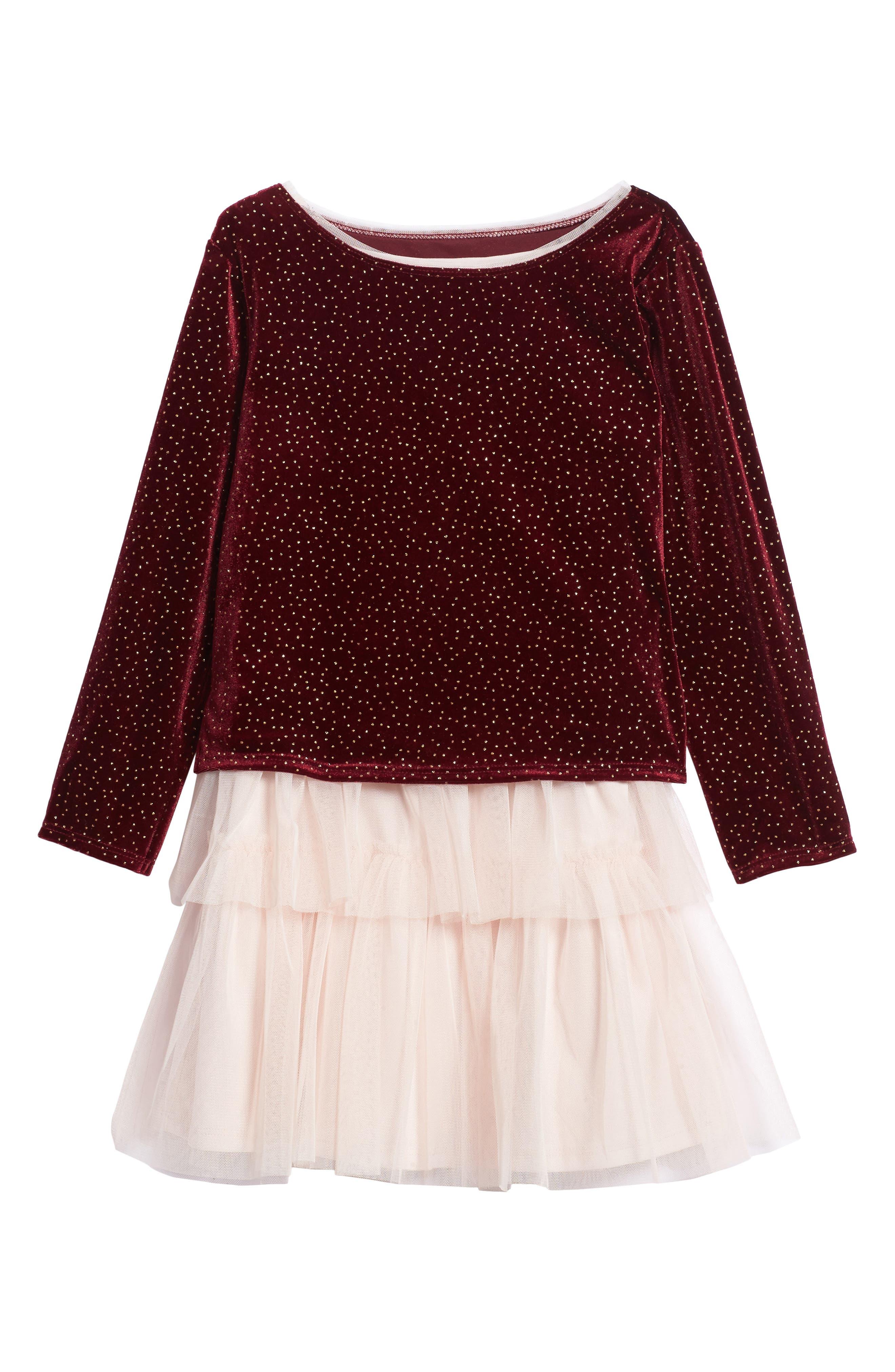 Velvet Top & Tank Dress,                             Main thumbnail 1, color,