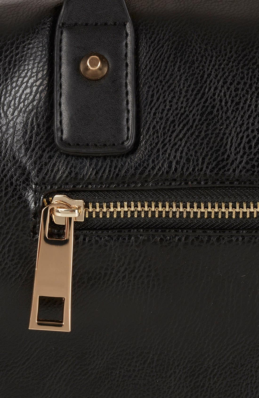 'Medium' Faux Leather Bowling Bag,                             Alternate thumbnail 2, color,                             001