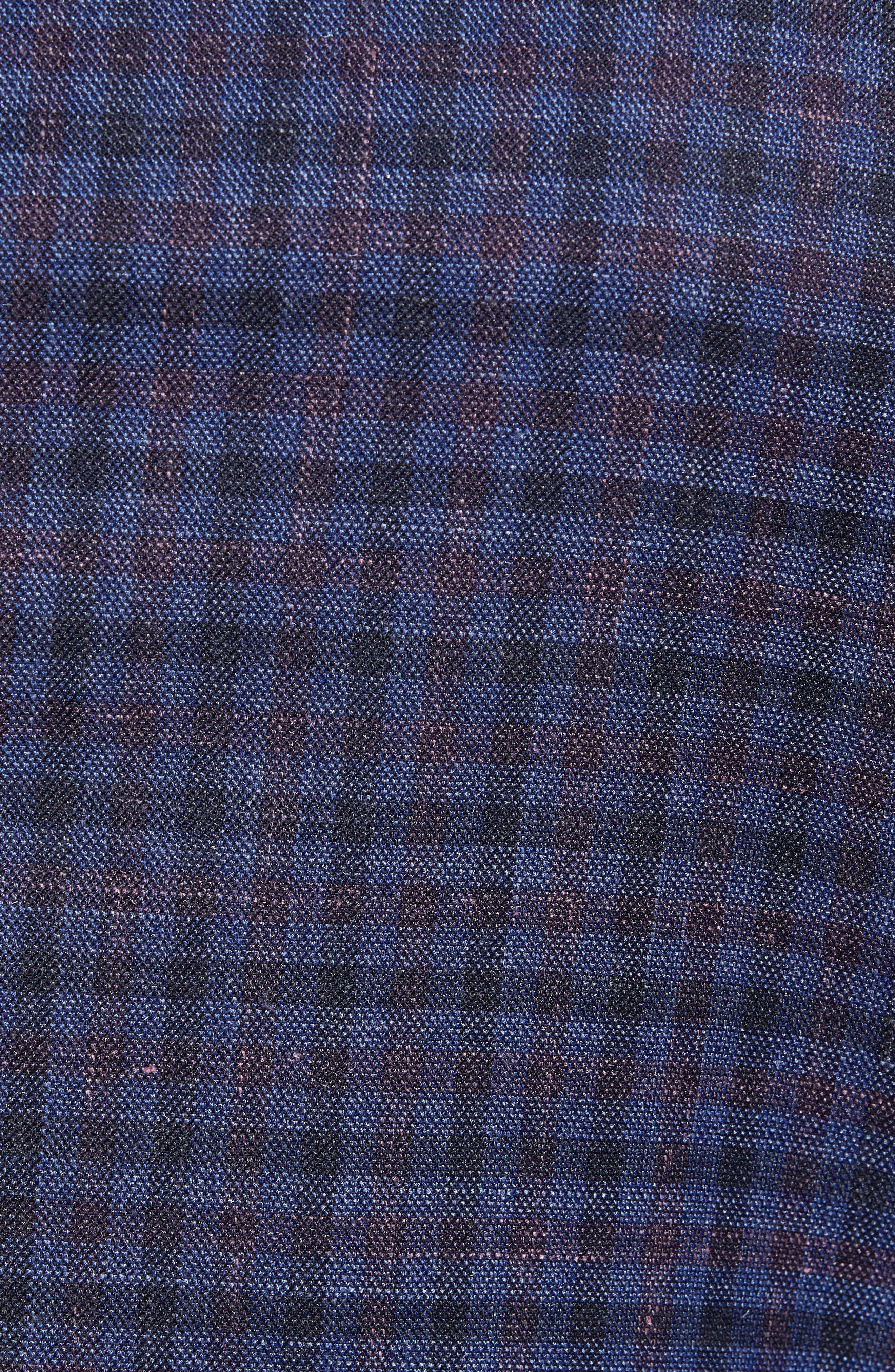 Hyperlight Classic Fit Check Wool Blend Sport Coat,                             Alternate thumbnail 6, color,                             BLUE