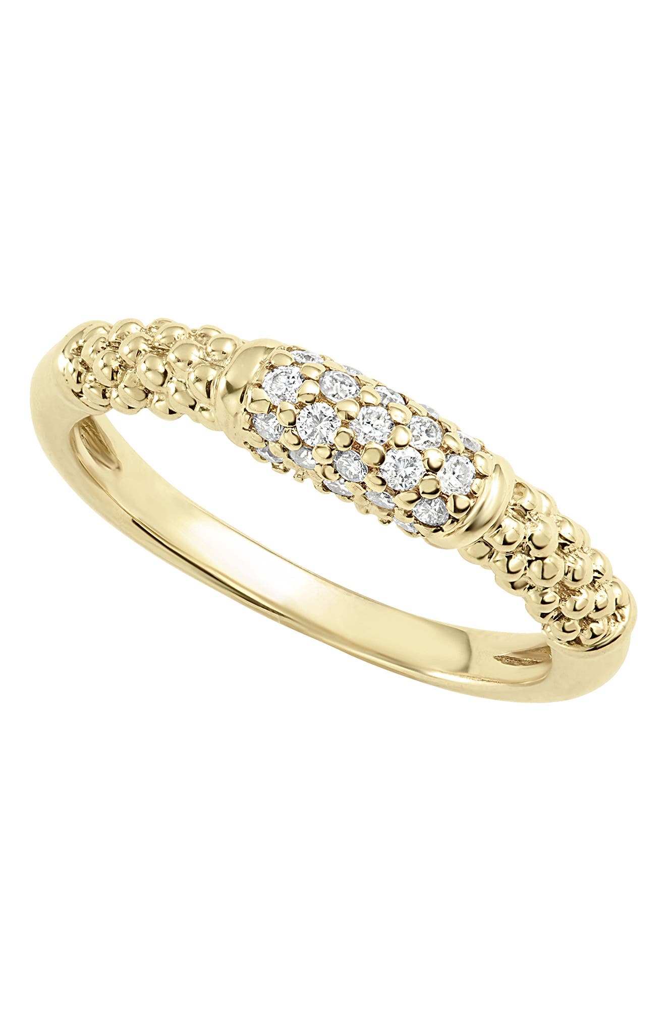 Caviar Diamond Ring,                             Alternate thumbnail 7, color,                             GOLD