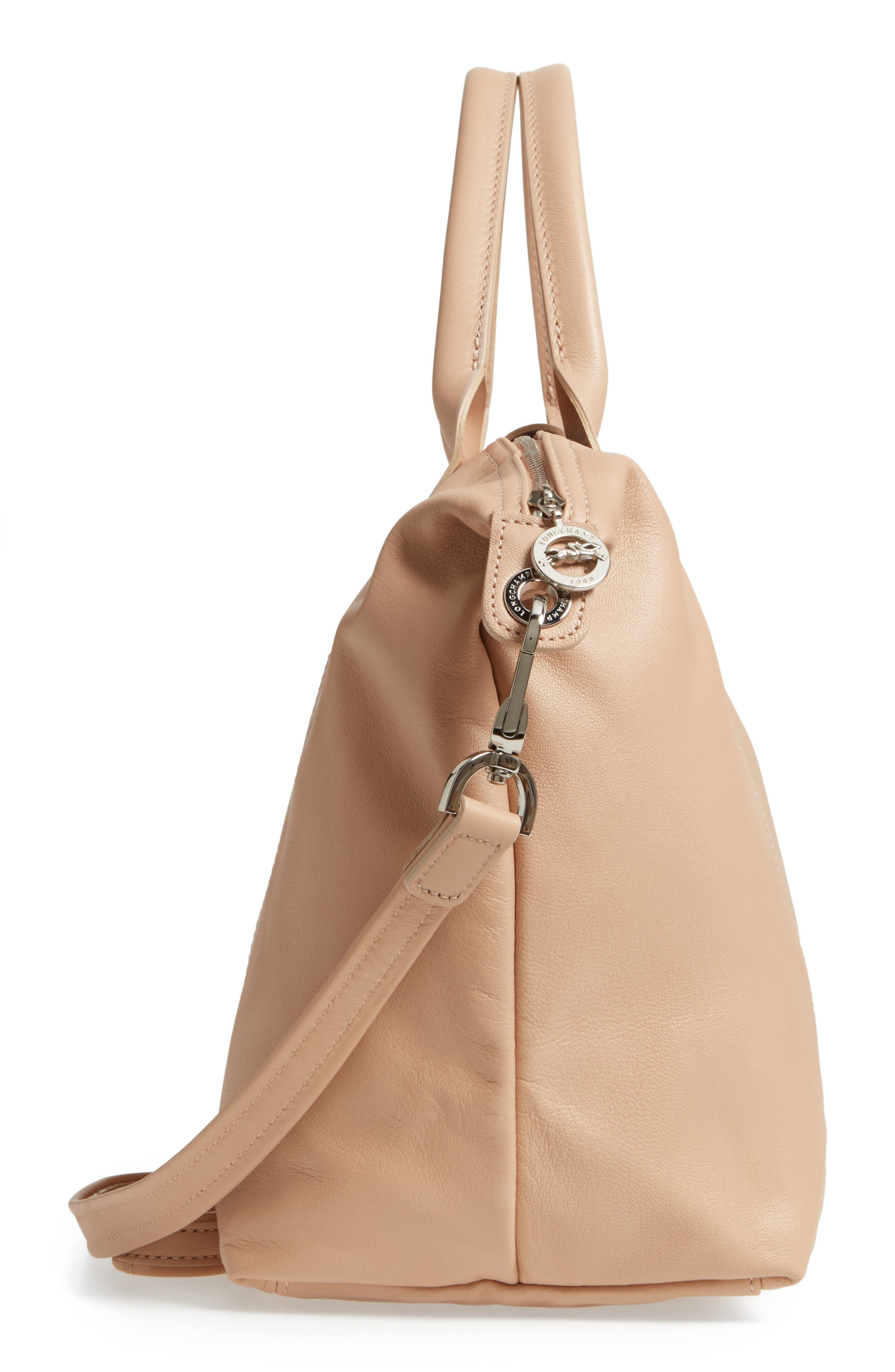Medium 'Le Pliage Cuir' Leather Top Handle Tote,                             Alternate thumbnail 89, color,