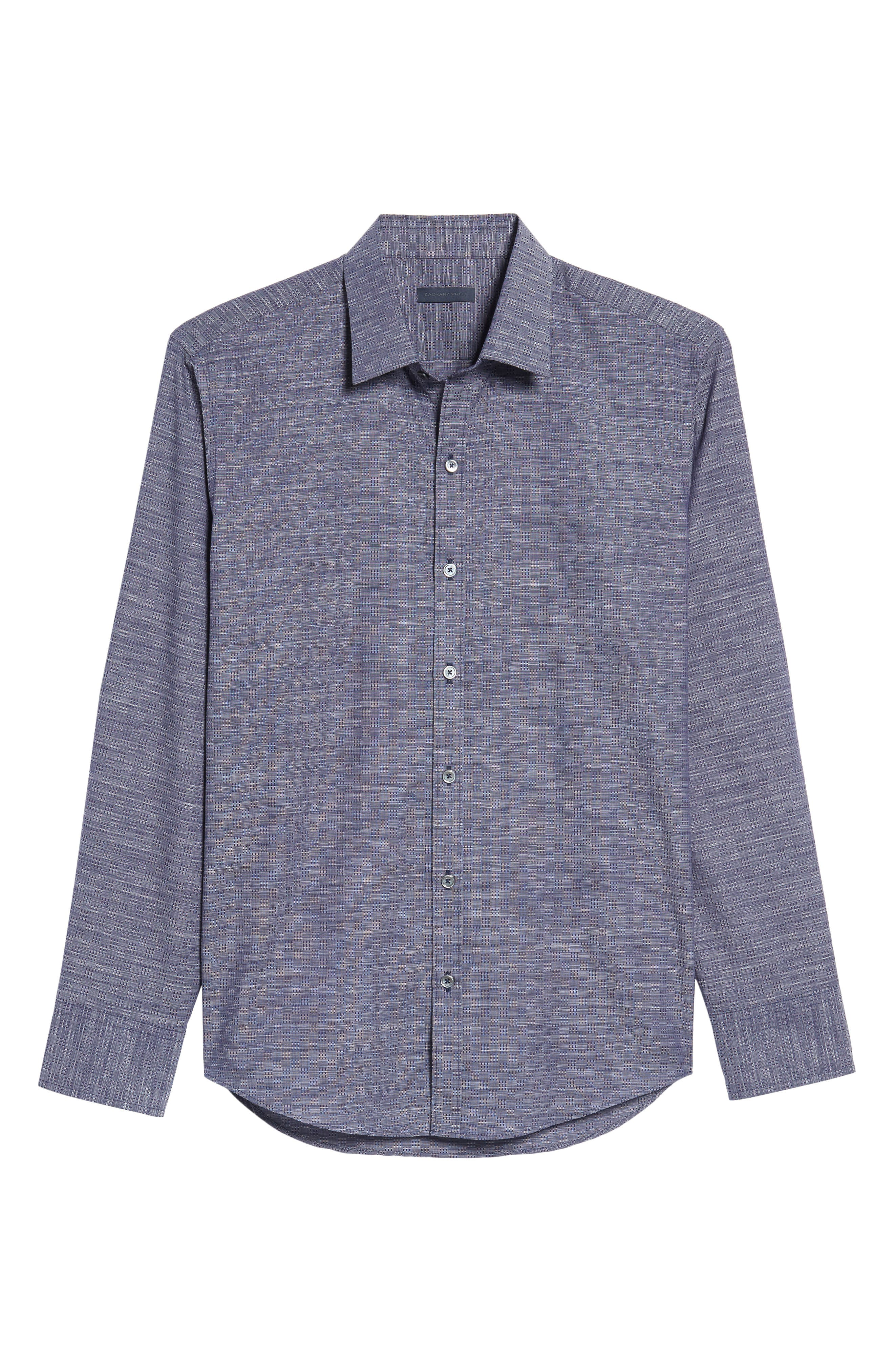 Dane Check Sport Shirt,                             Alternate thumbnail 6, color,                             450