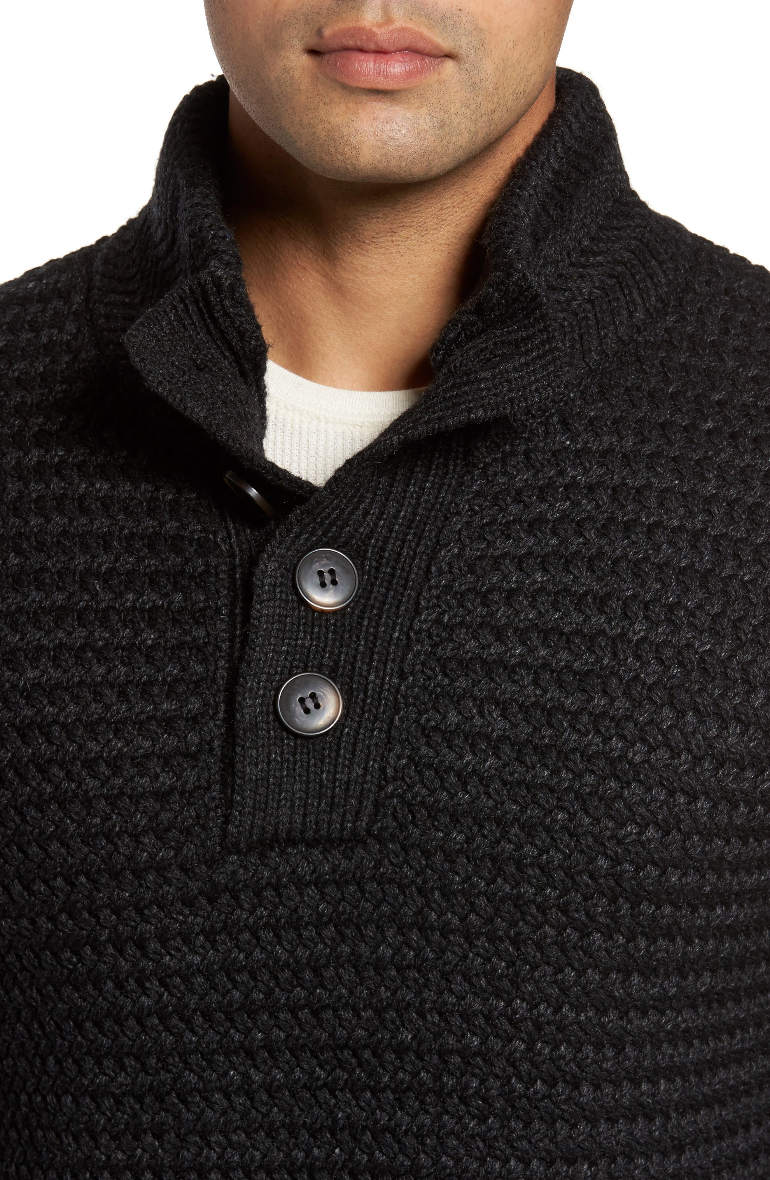 Military Henley Sweater,                             Alternate thumbnail 4, color,                             001