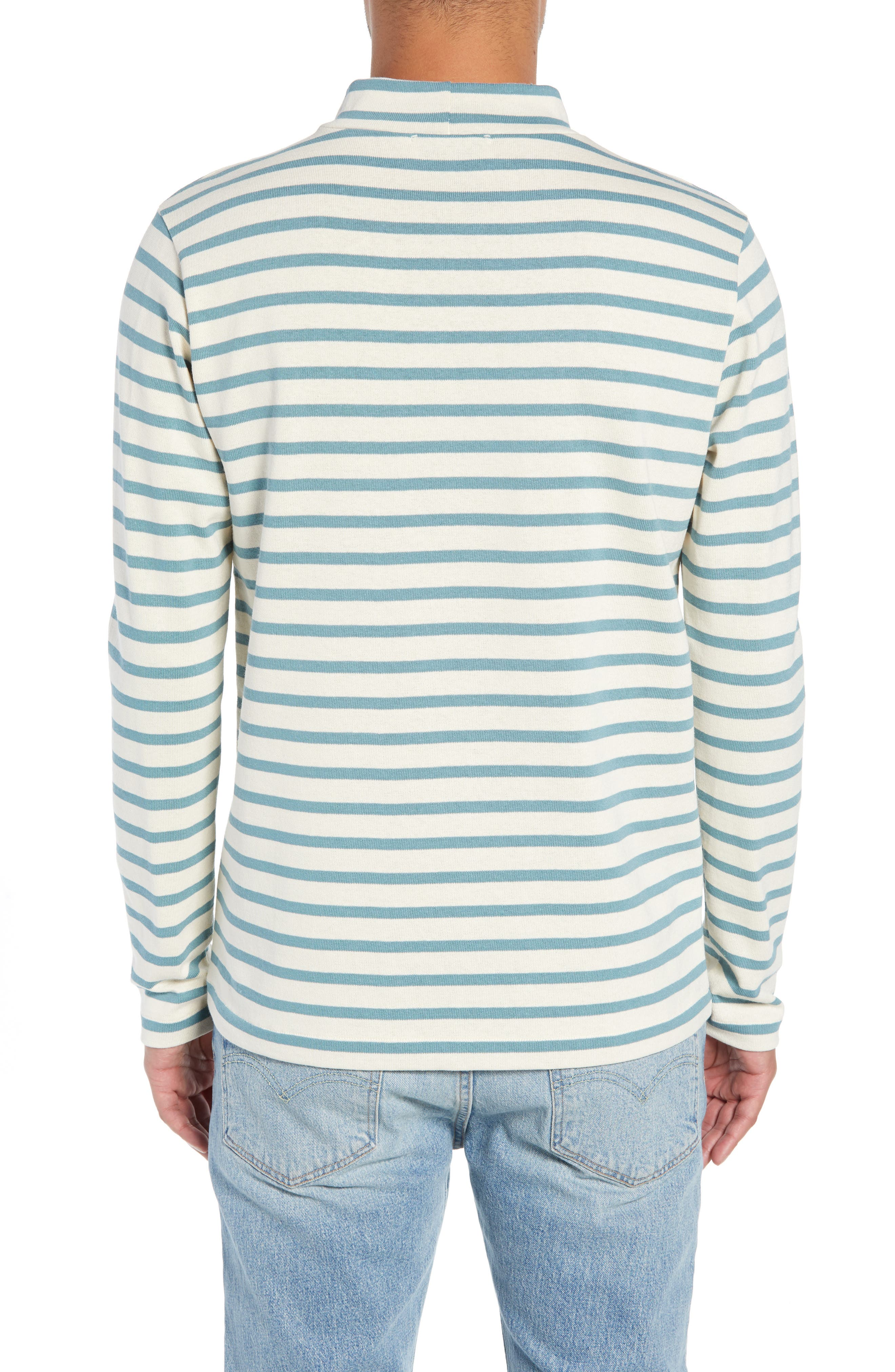 Striped Mock Neck T-Shirt,                             Alternate thumbnail 2, color,                             900