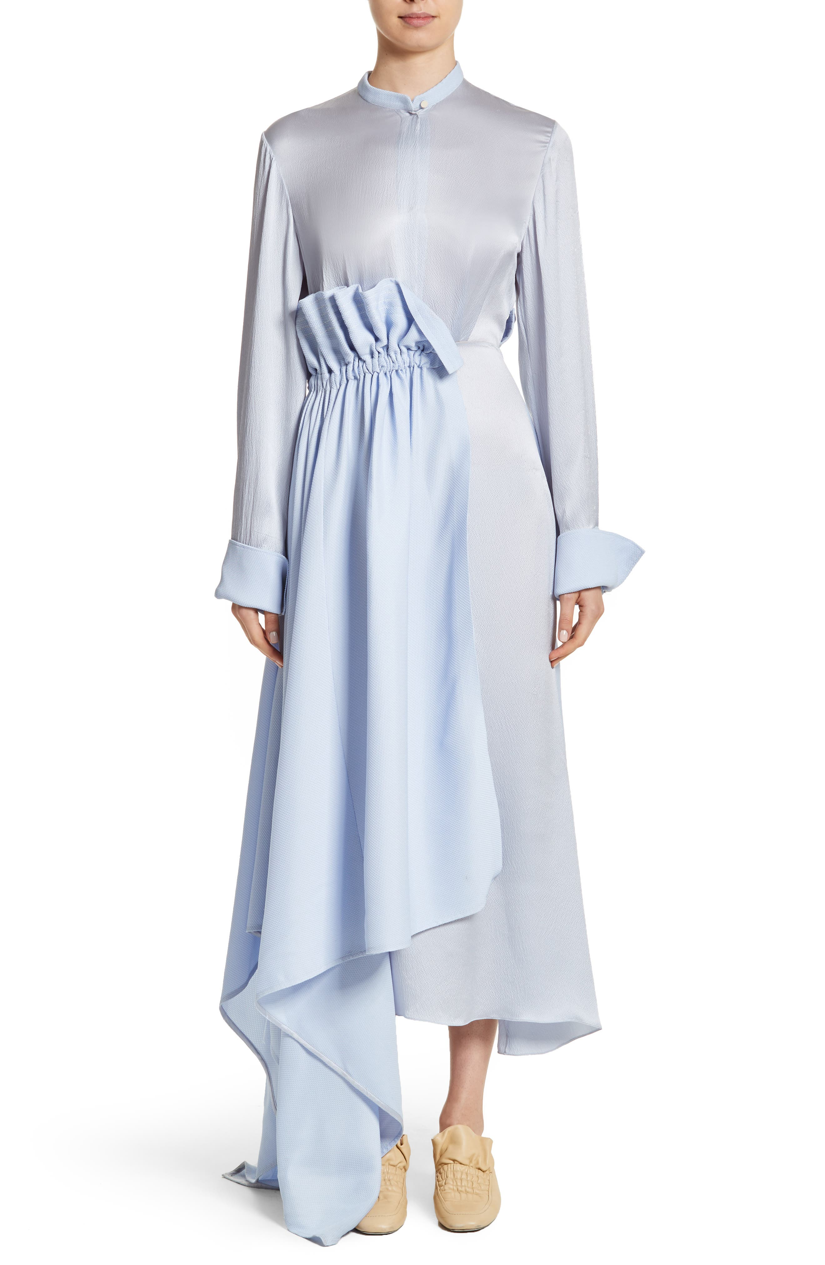 Micah Silk Dress,                             Alternate thumbnail 5, color,                             400