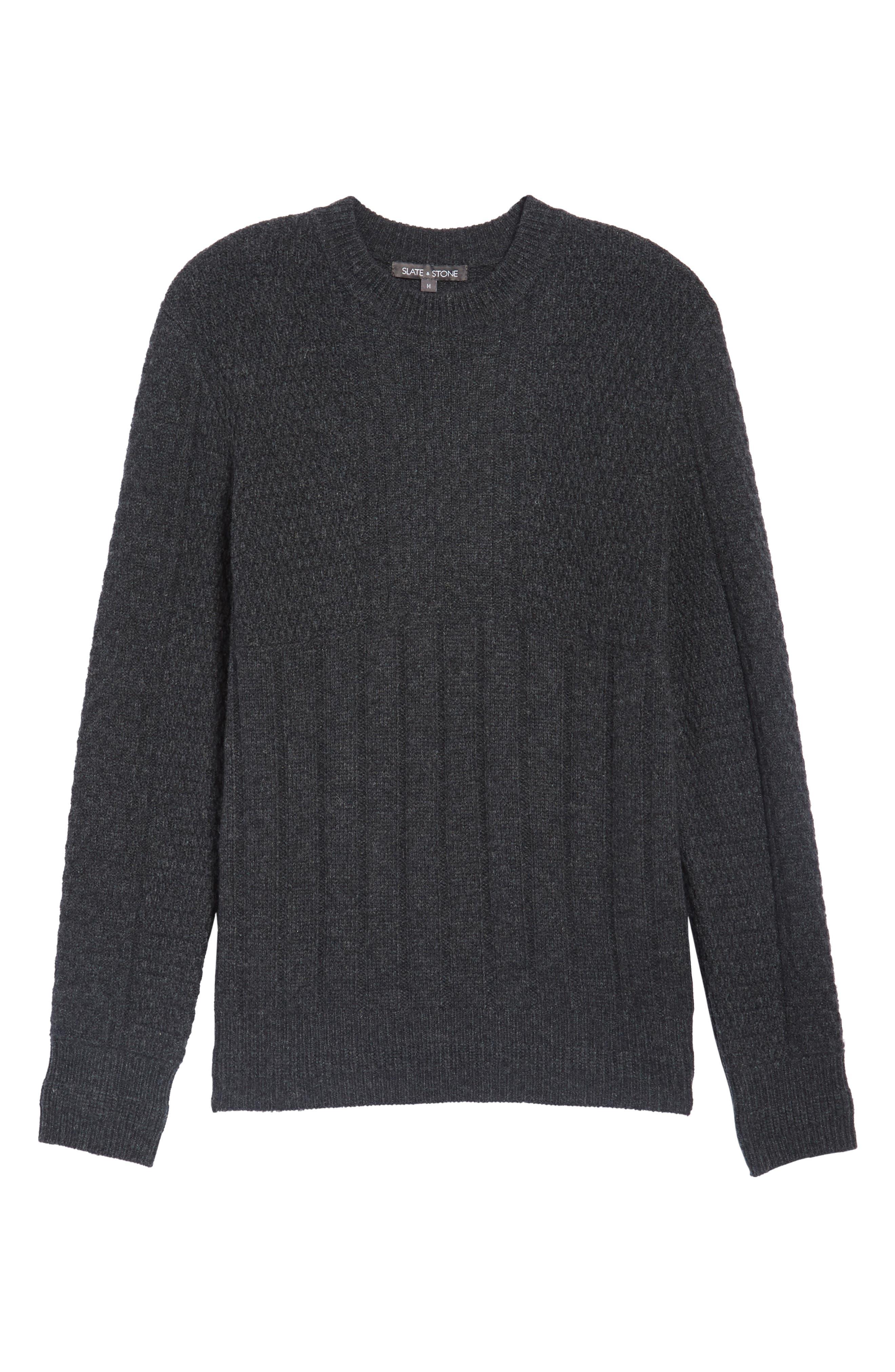 Wool Crewneck Sweater,                             Alternate thumbnail 6, color,                             020
