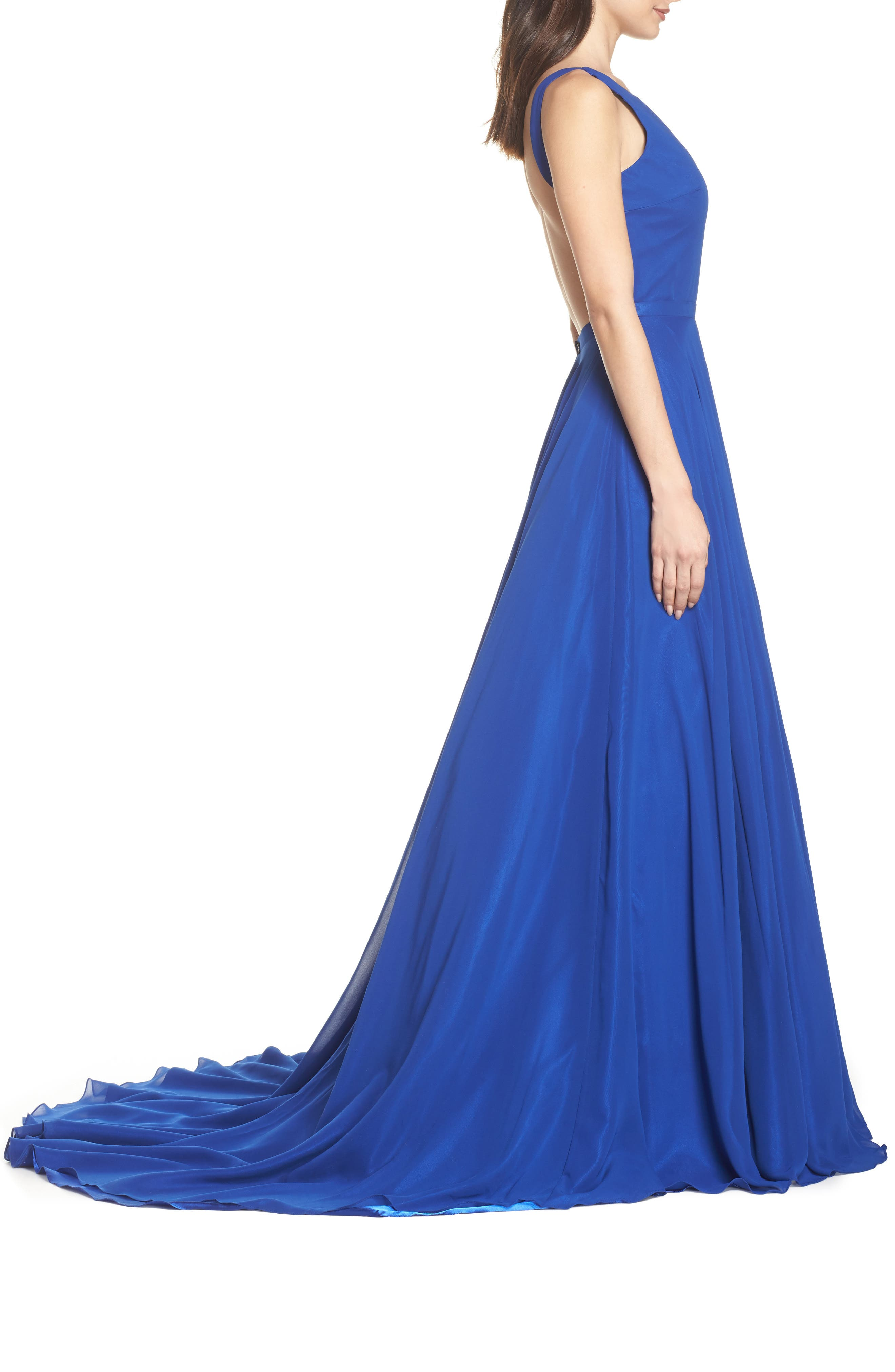 Mac Duggal Bateau Neck Ballgown,                             Alternate thumbnail 3, color,                             415
