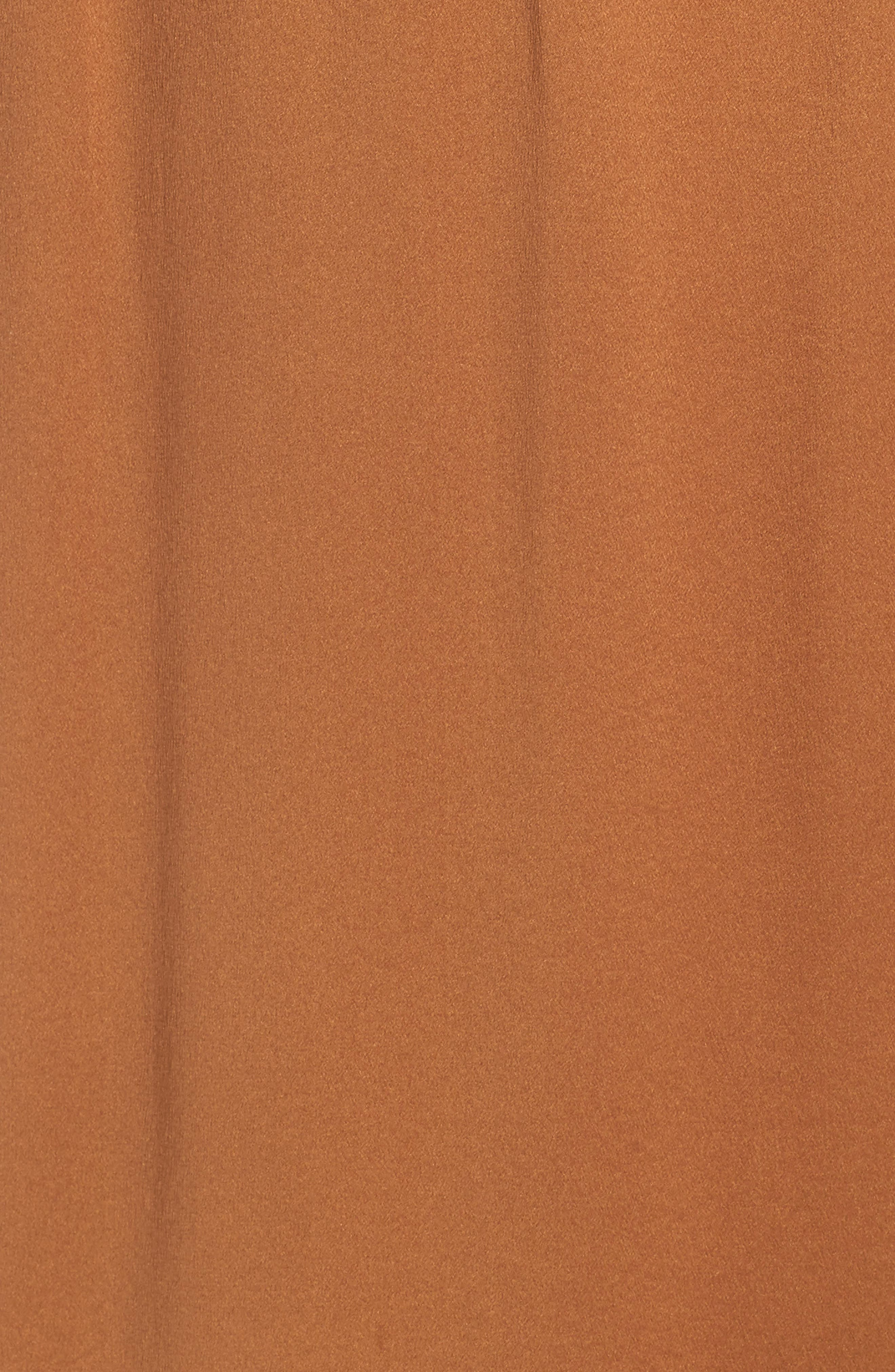 Drape Panel Silk Skirt,                             Alternate thumbnail 5, color,                             LIGHT COPPER