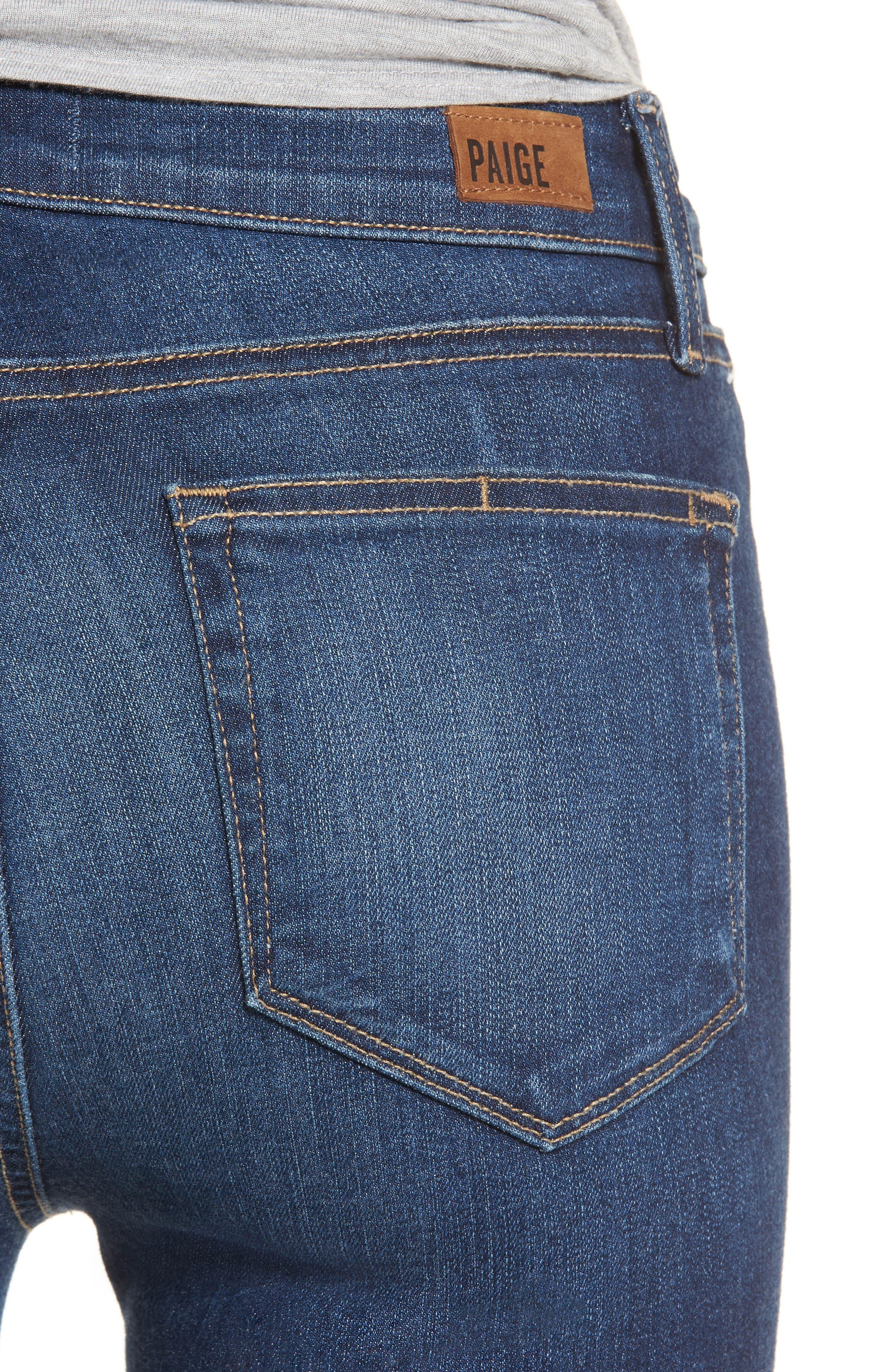 Transcend Vintage - Hoxton High Waist Ankle Skinny Jeans,                             Alternate thumbnail 4, color,