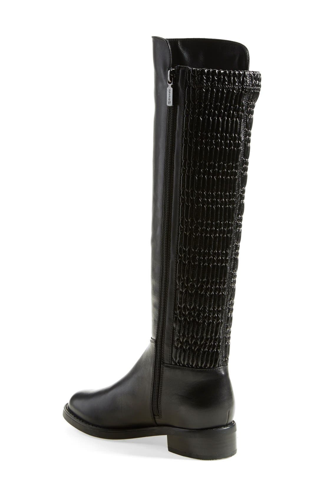 'Elenor' Waterproof Riding Boot,                             Alternate thumbnail 3, color,                             001