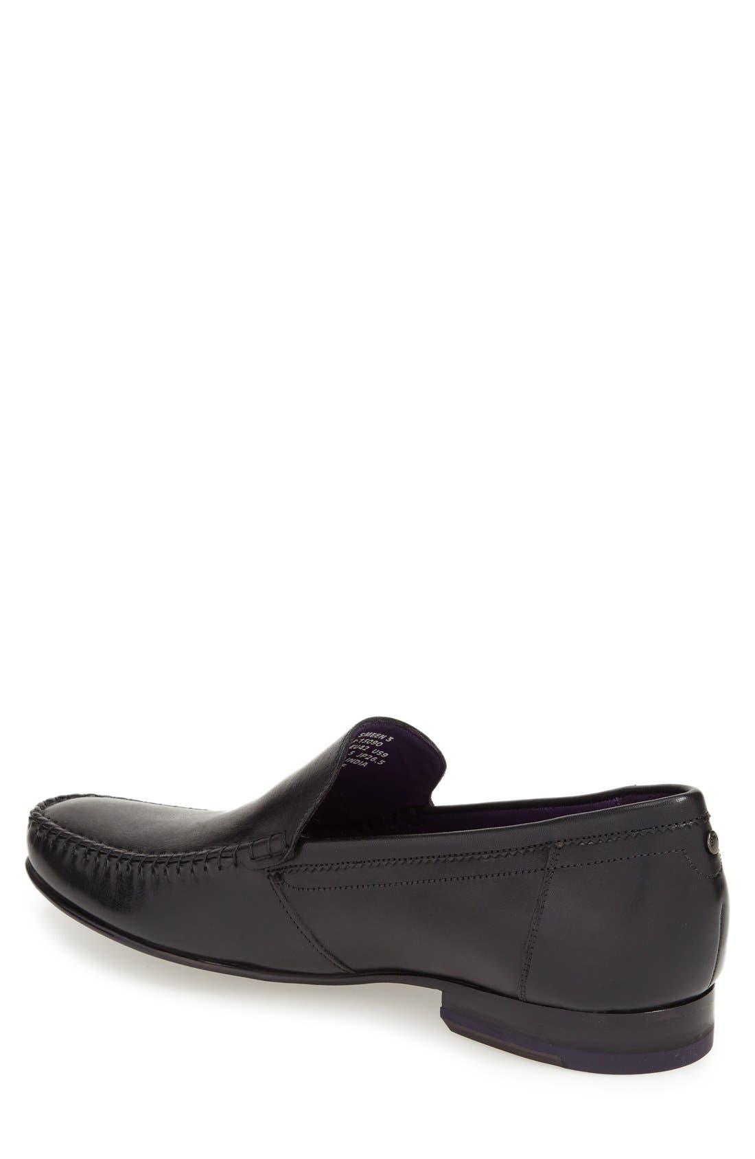 'Simeen 3' Venetian Loafer,                             Alternate thumbnail 5, color,                             001