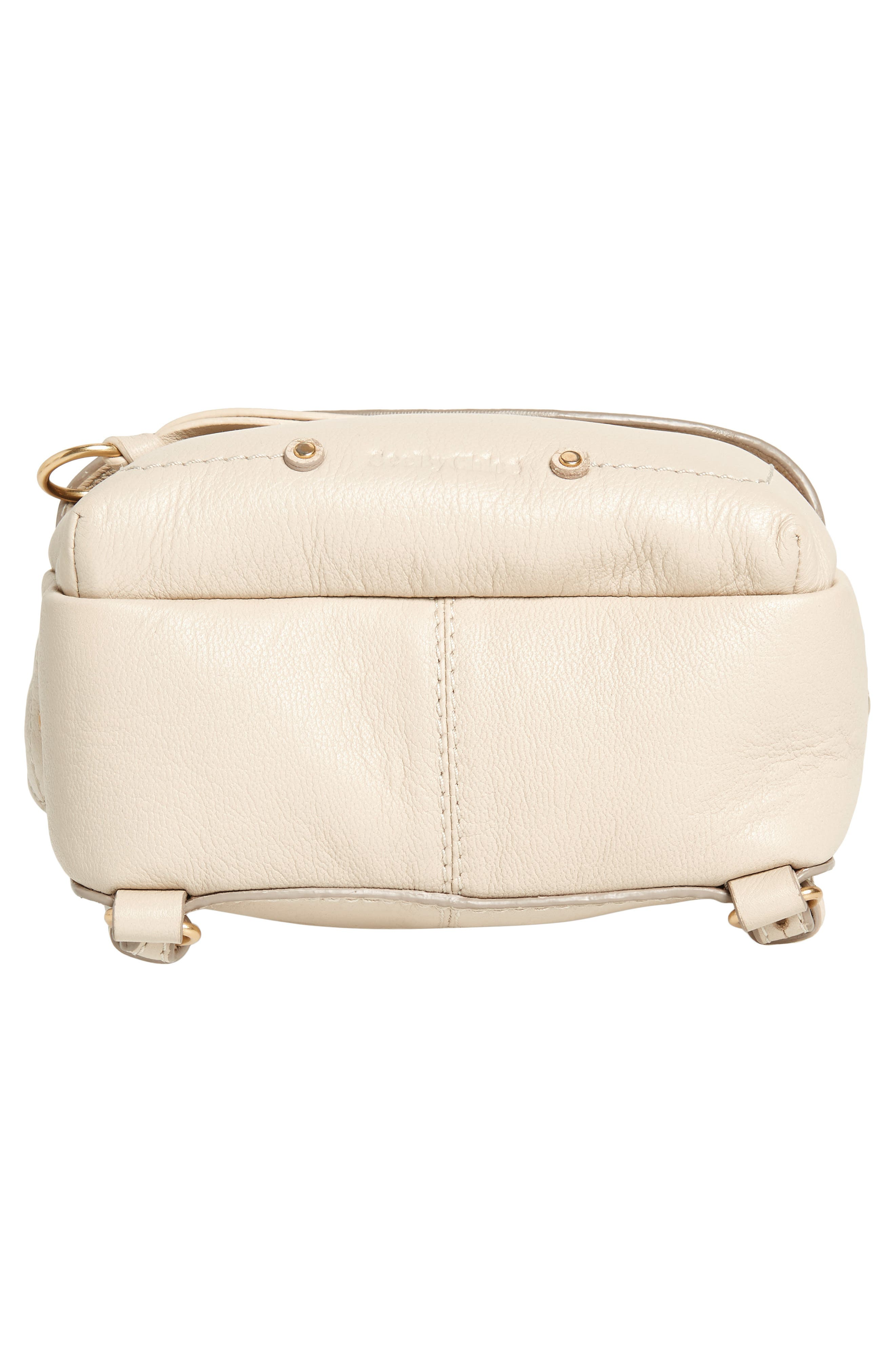 Mini Mino Leather Backpack,                             Alternate thumbnail 7, color,                             CEMENT BEIGE