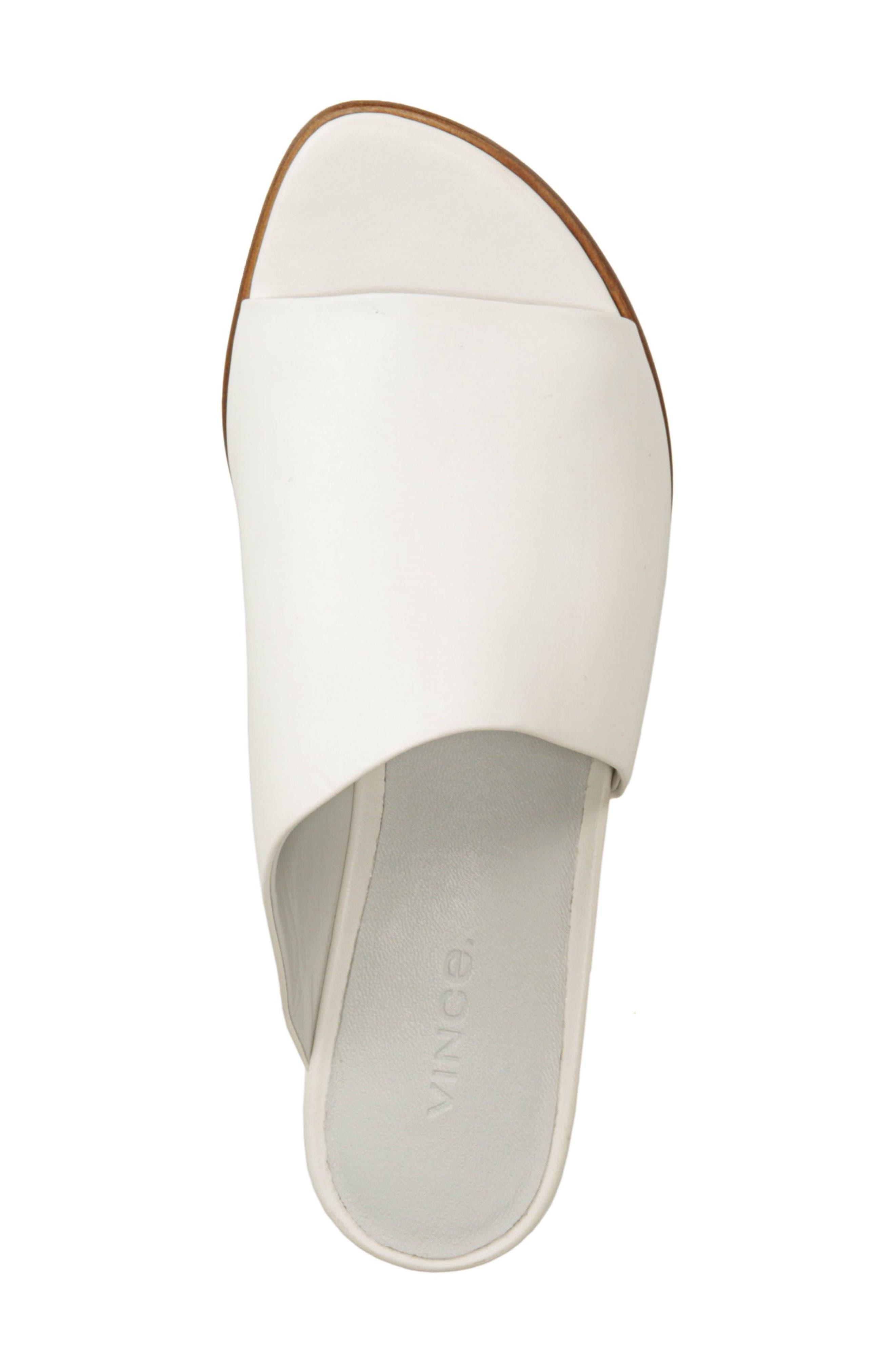 VINCE,                             Duvall Asymmetrical Wedge Sandal,                             Alternate thumbnail 5, color,                             OFF WHITE
