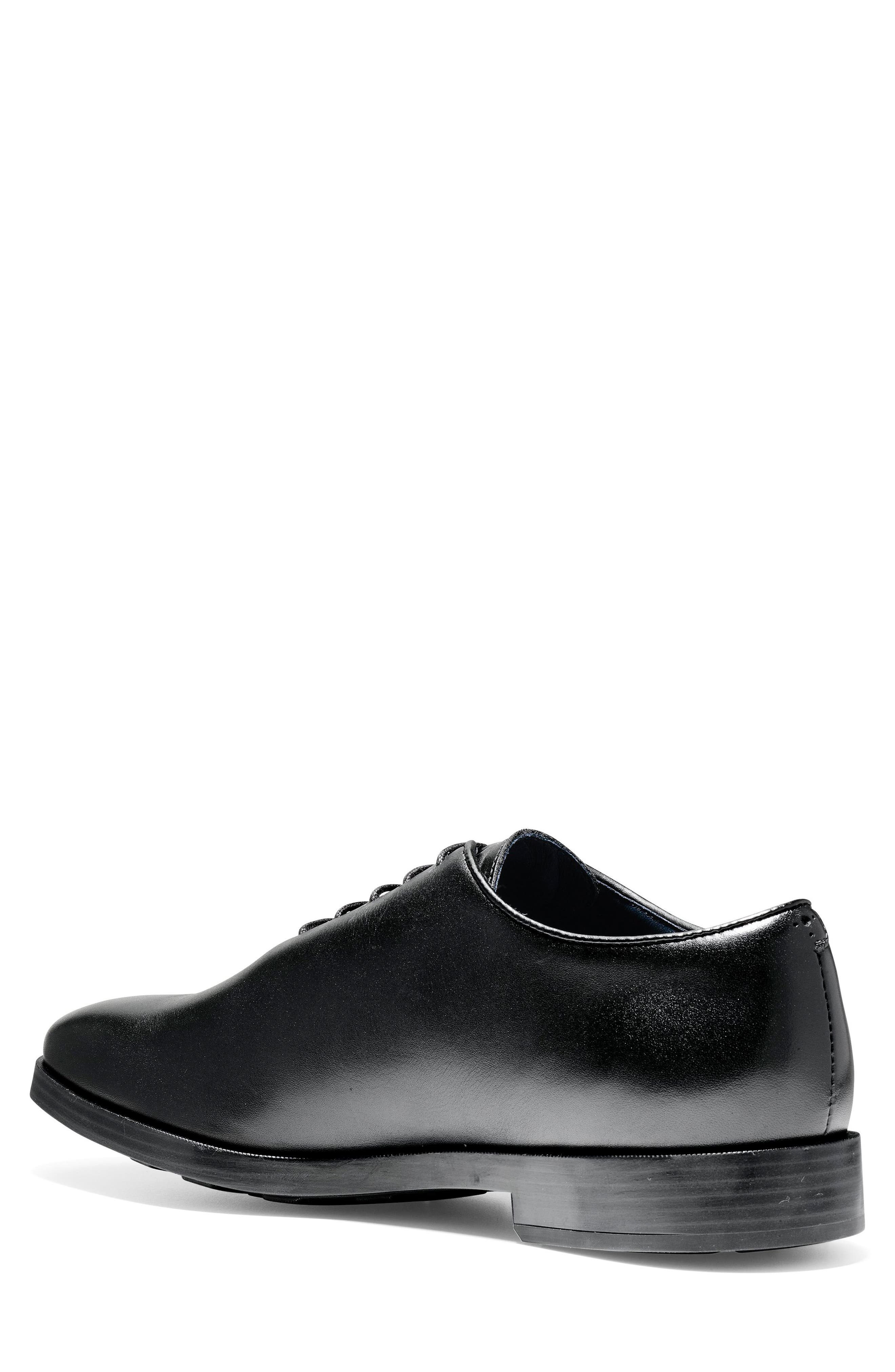 Jefferson Waterproof Wholecut Oxford,                             Alternate thumbnail 2, color,                             BLACK LEATHER