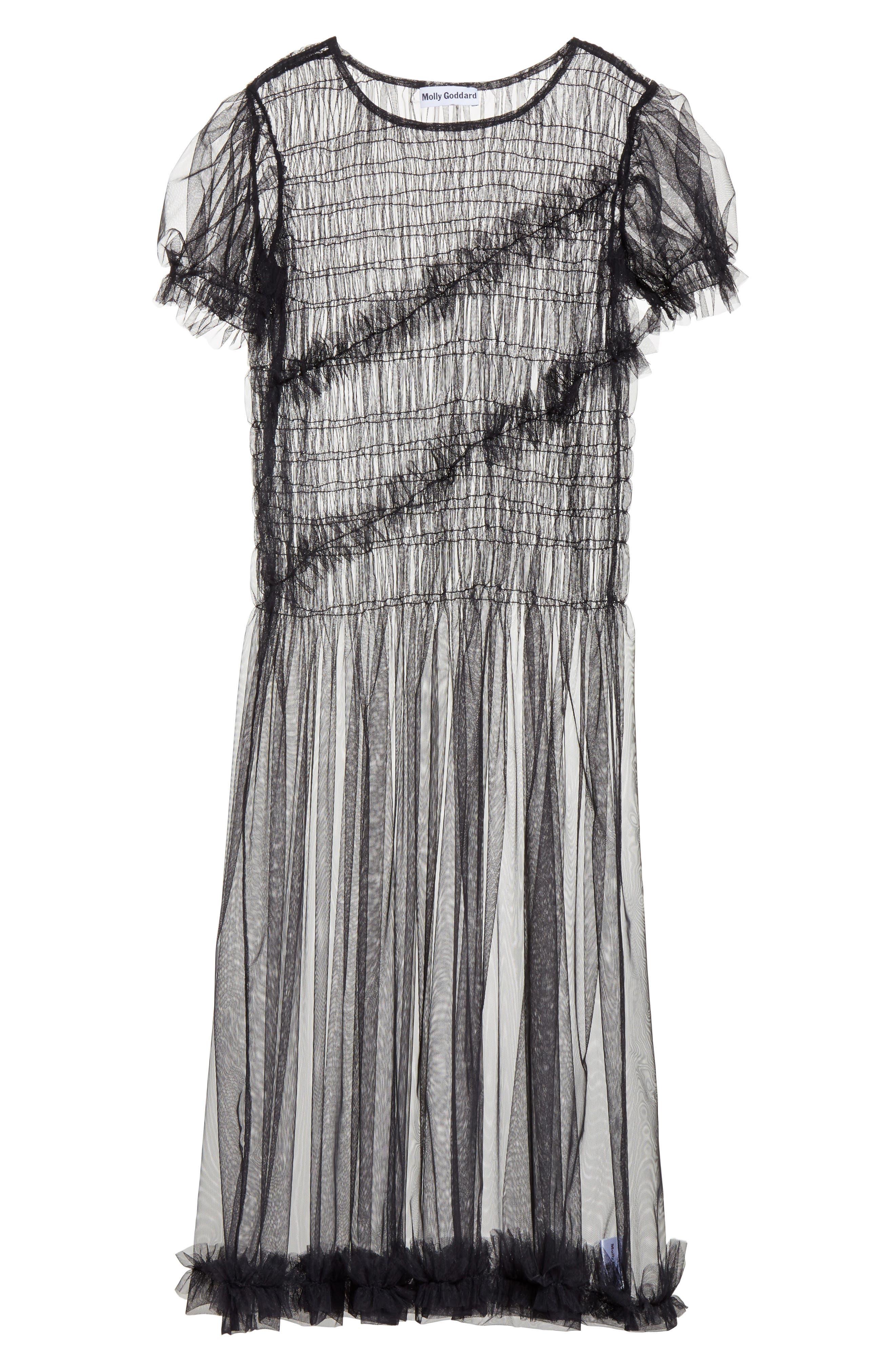 Emily Tulle Dress,                             Alternate thumbnail 6, color,
