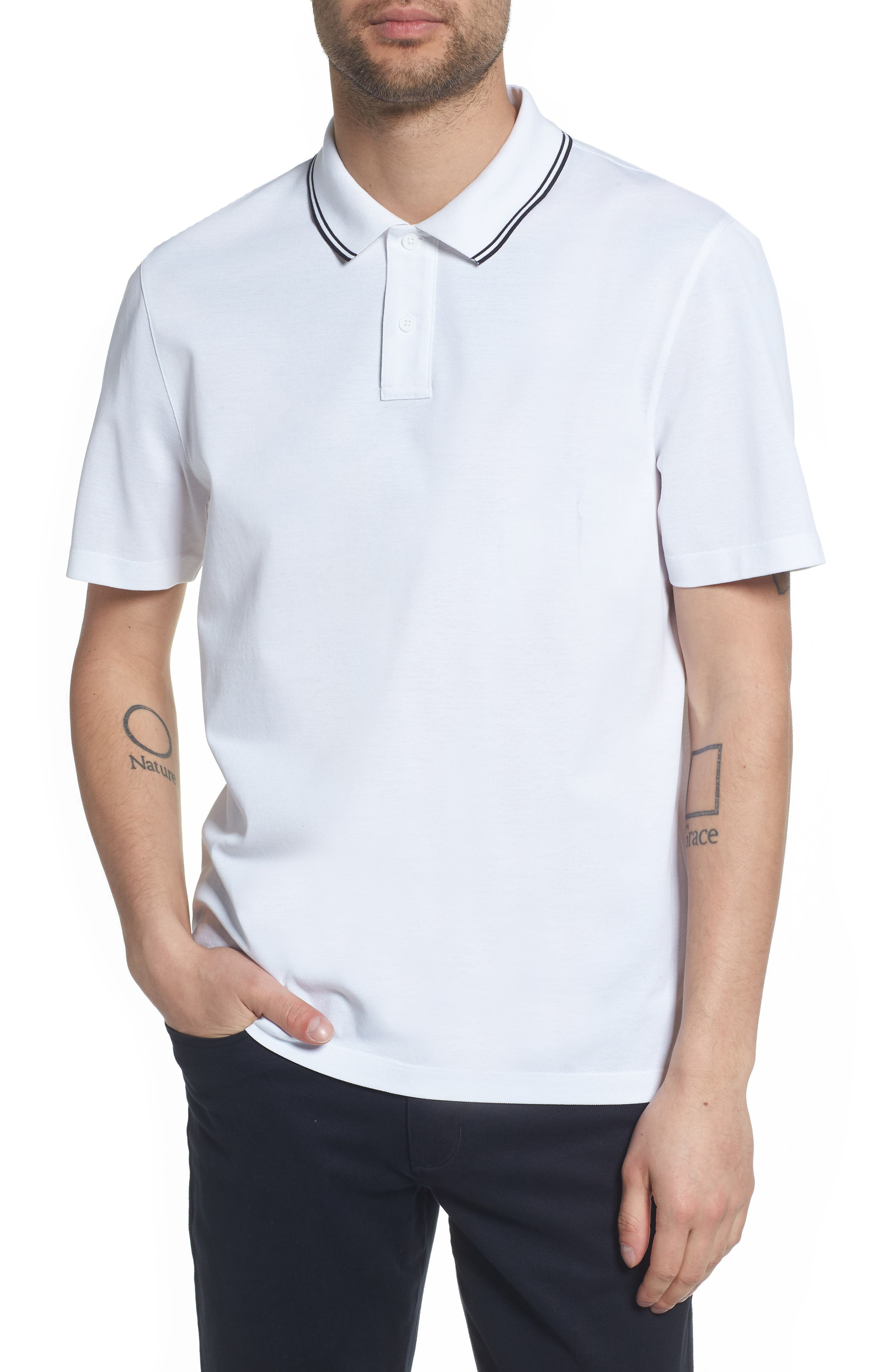 Regular Fit Polo,                         Main,                         color, OPTIC WHITE