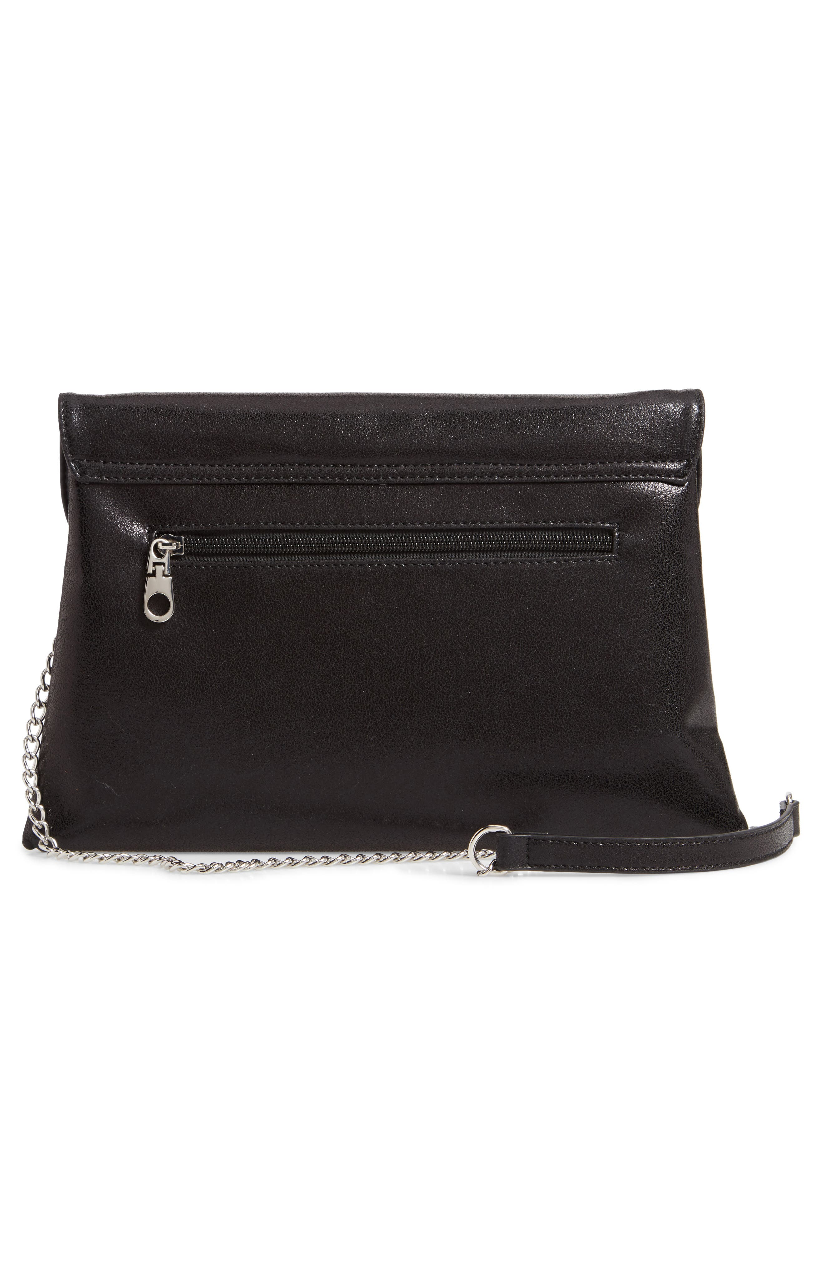 Jade Envelope Clutch,                             Alternate thumbnail 3, color,                             BLACK