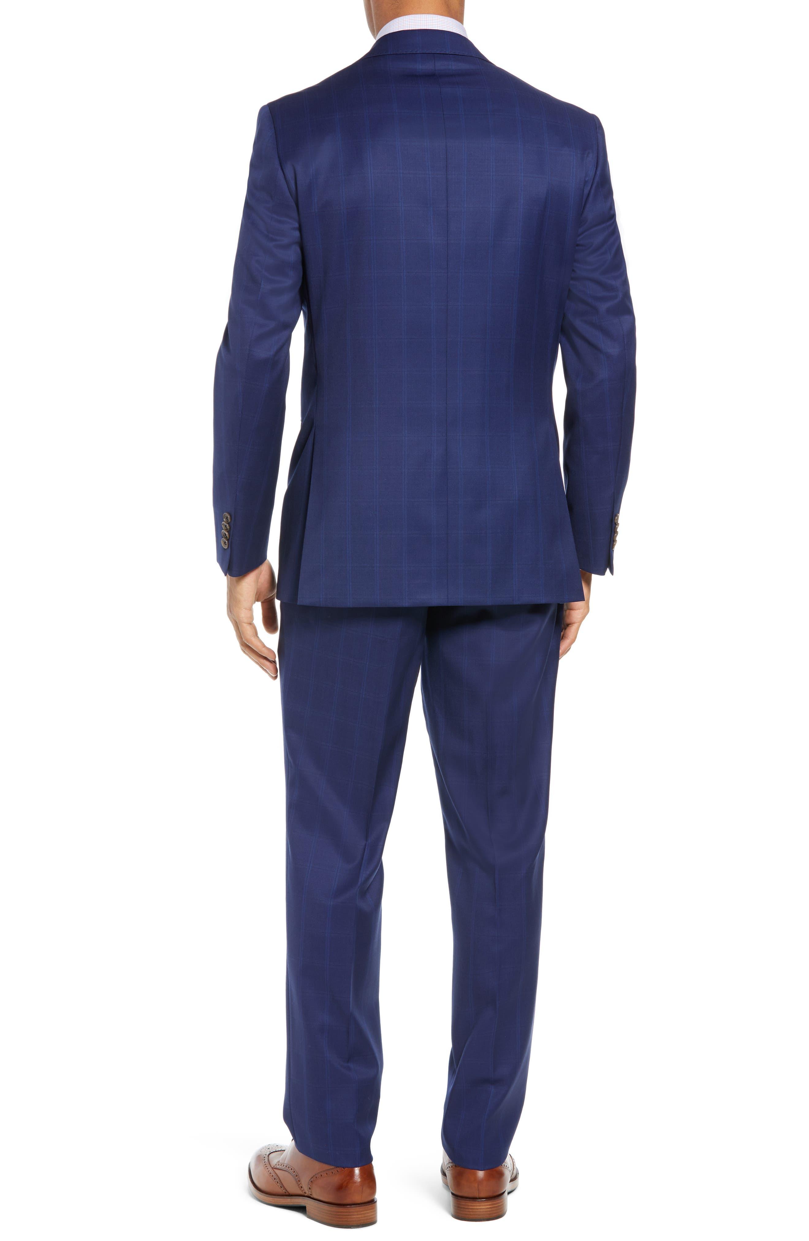 DAVID DONAHUE,                             Ryan Classic Fit Windowpane Wool Suit,                             Alternate thumbnail 2, color,                             400