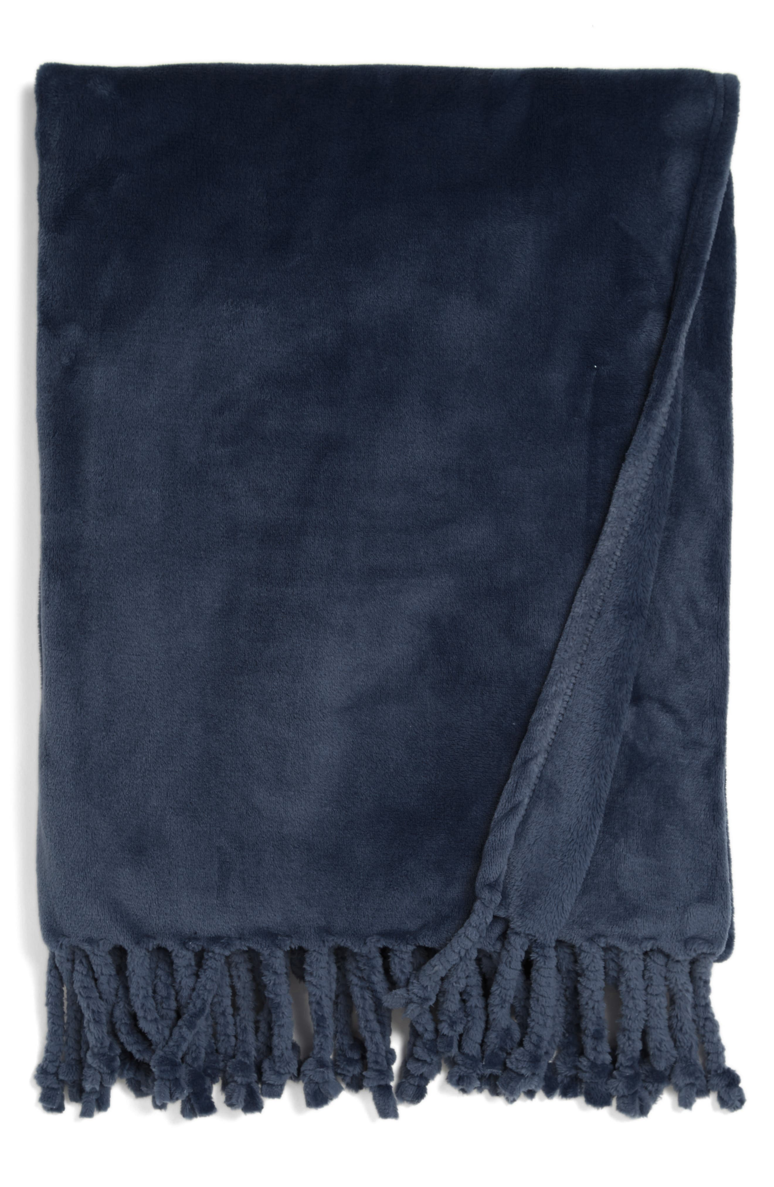 Kennebunk Bliss Plush Throw,                         Main,                         color, NAVY BLUE