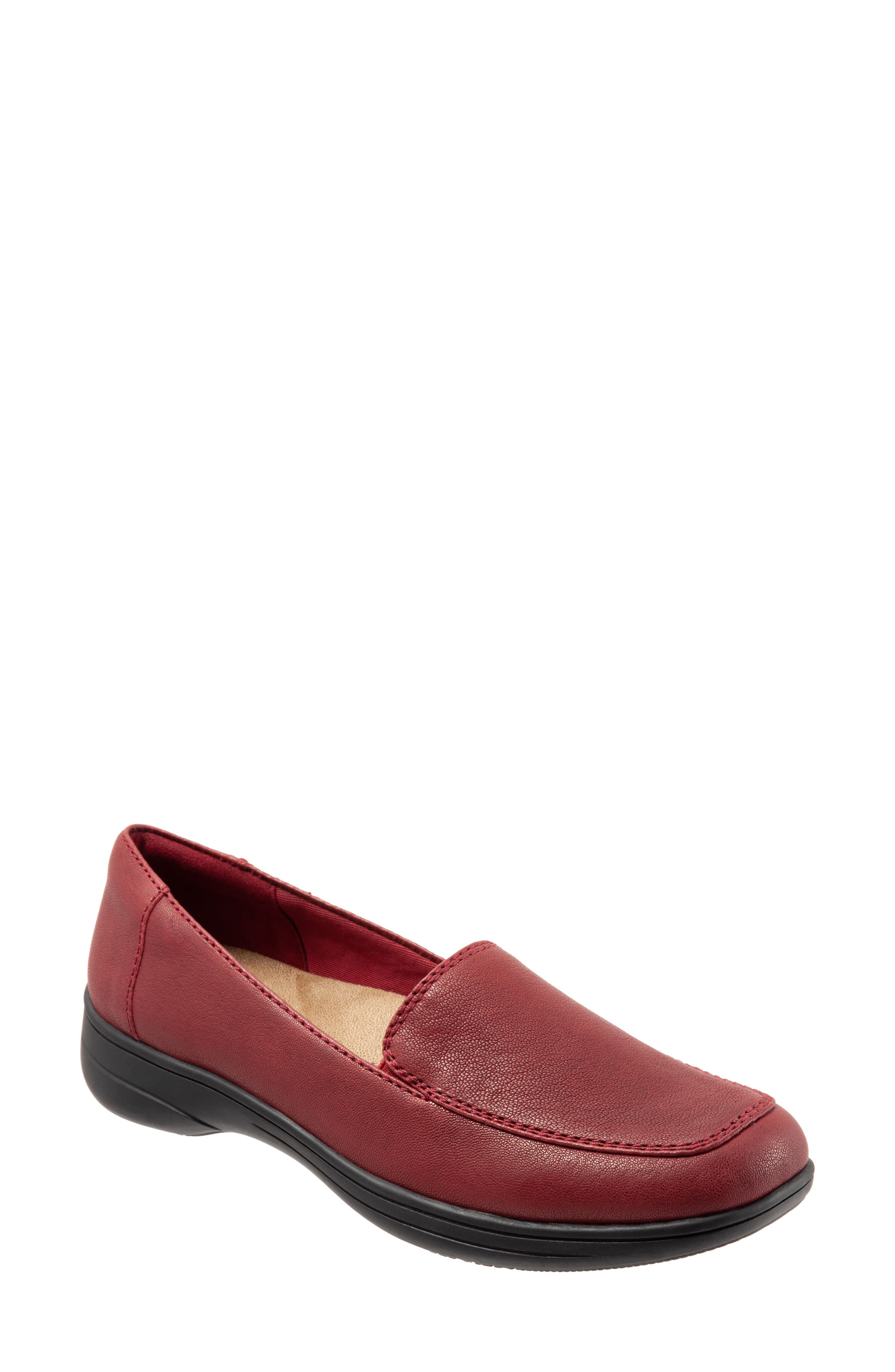 Jacob Loafer,                             Main thumbnail 1, color,                             DARK RED LEATHER