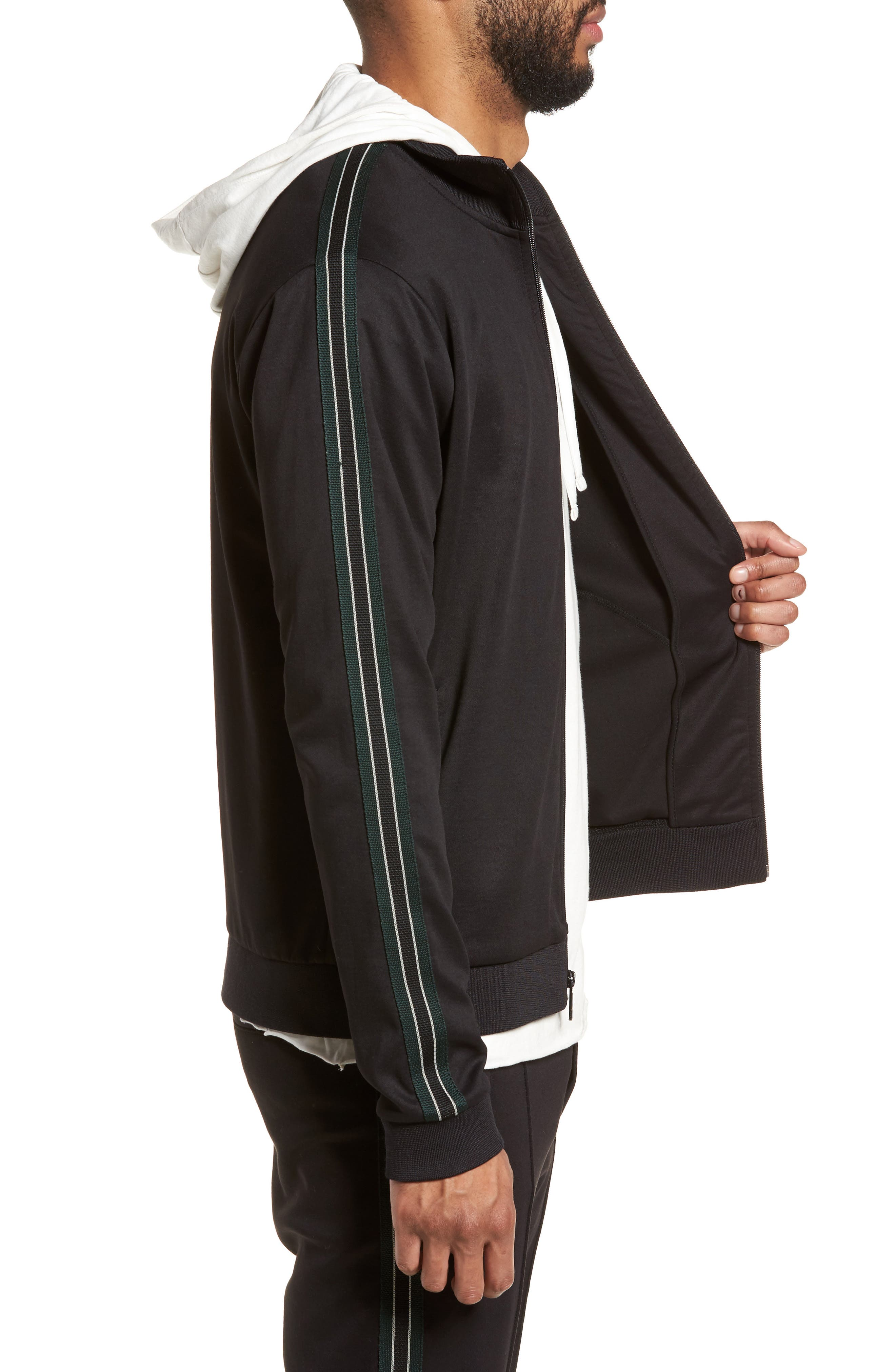 Regular Fit Track Jacket,                             Alternate thumbnail 3, color,                             001