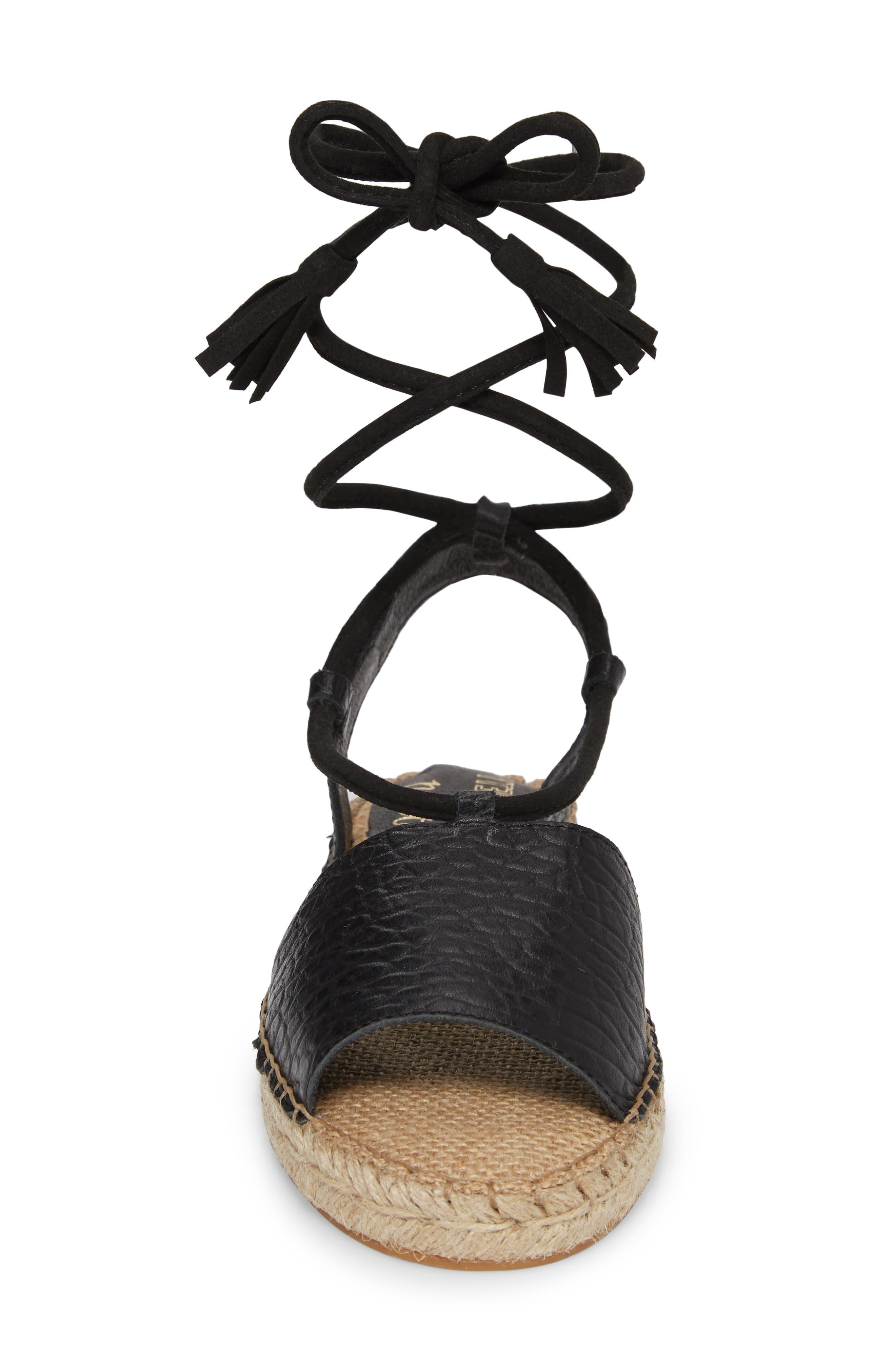 Amuse Society x Matisse La Vita Sandal,                             Alternate thumbnail 4, color,                             BLACK LEATHER