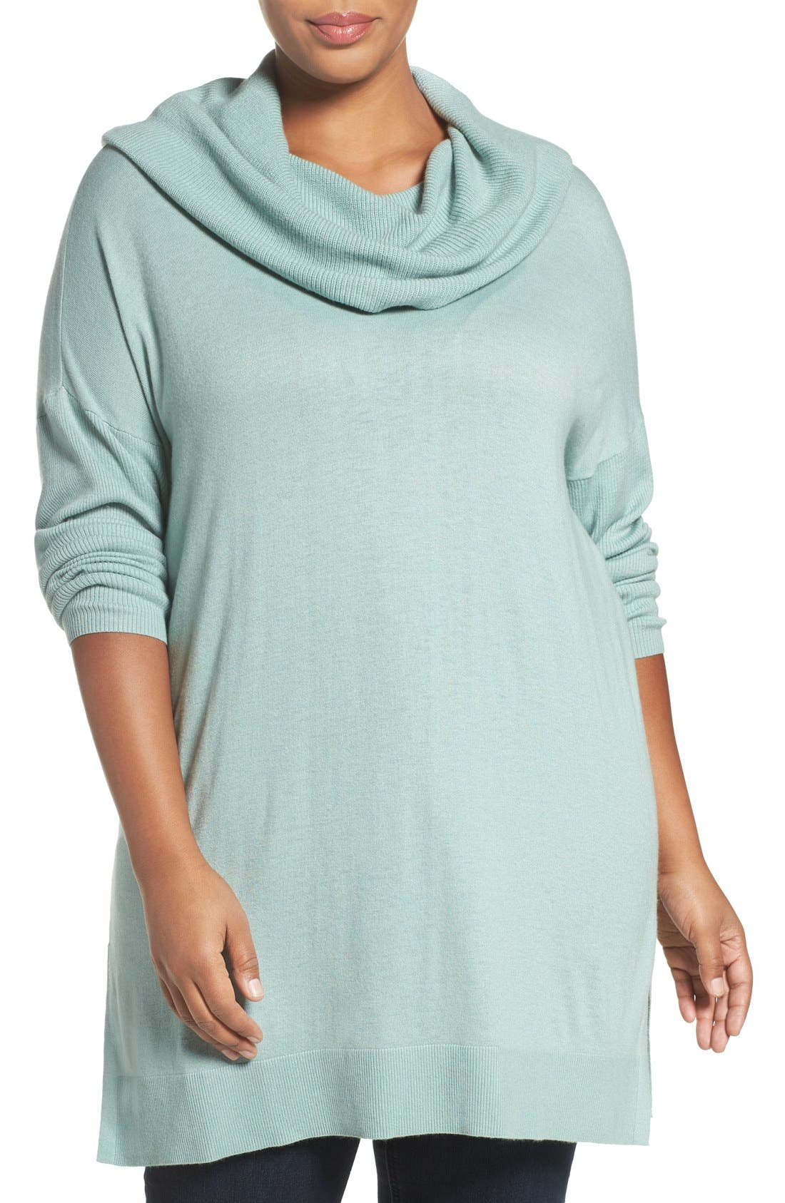 Cowl Neck Tunic Sweater,                             Main thumbnail 7, color,