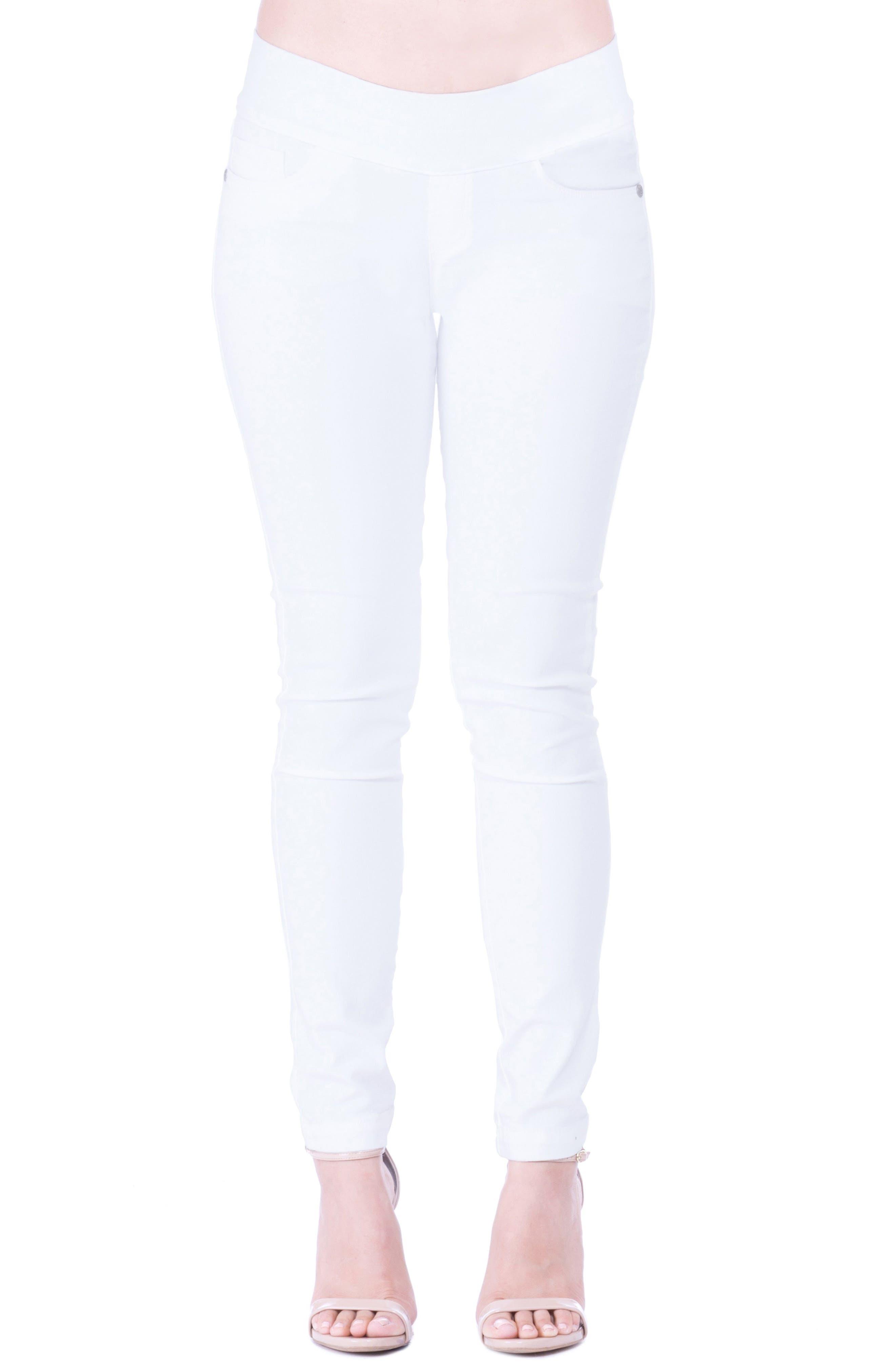 'Geni' Maternity Skinny Jeans,                             Main thumbnail 1, color,                             WHITE