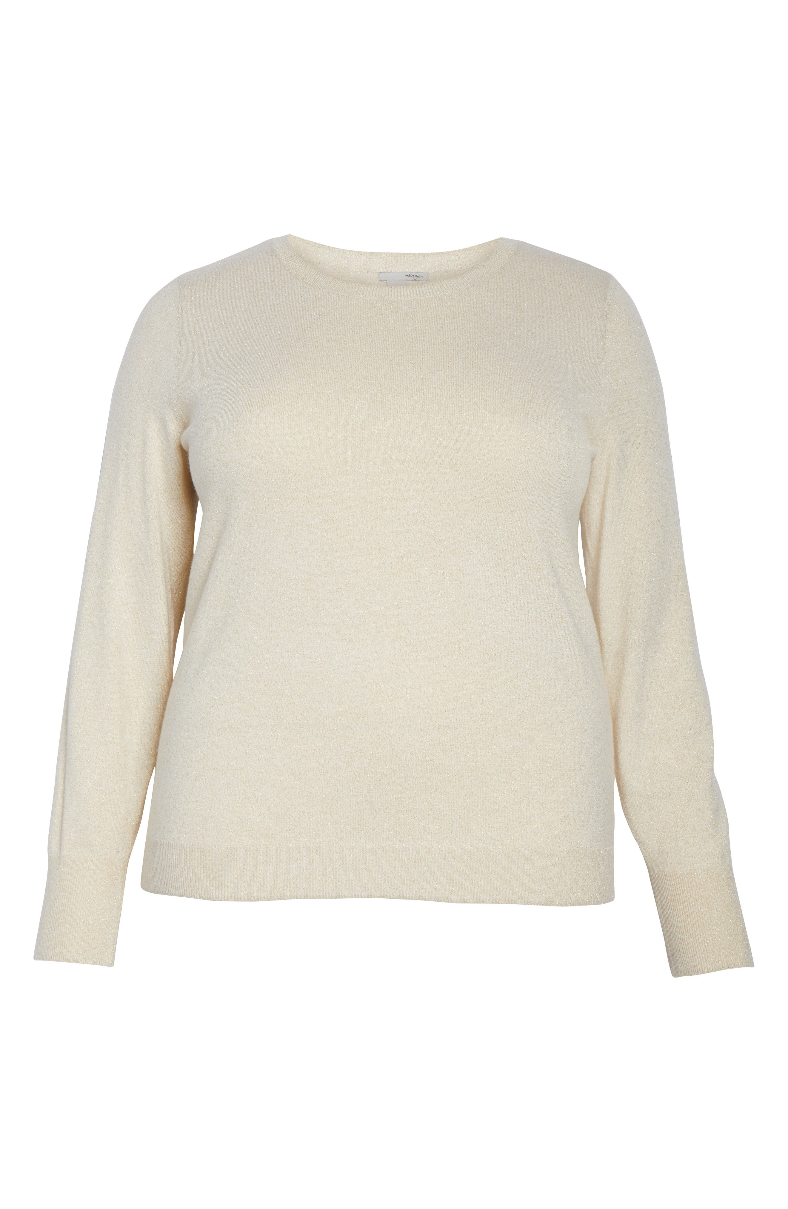 Shimmer Knit Sweater,                             Alternate thumbnail 6, color,                             OATMEAL