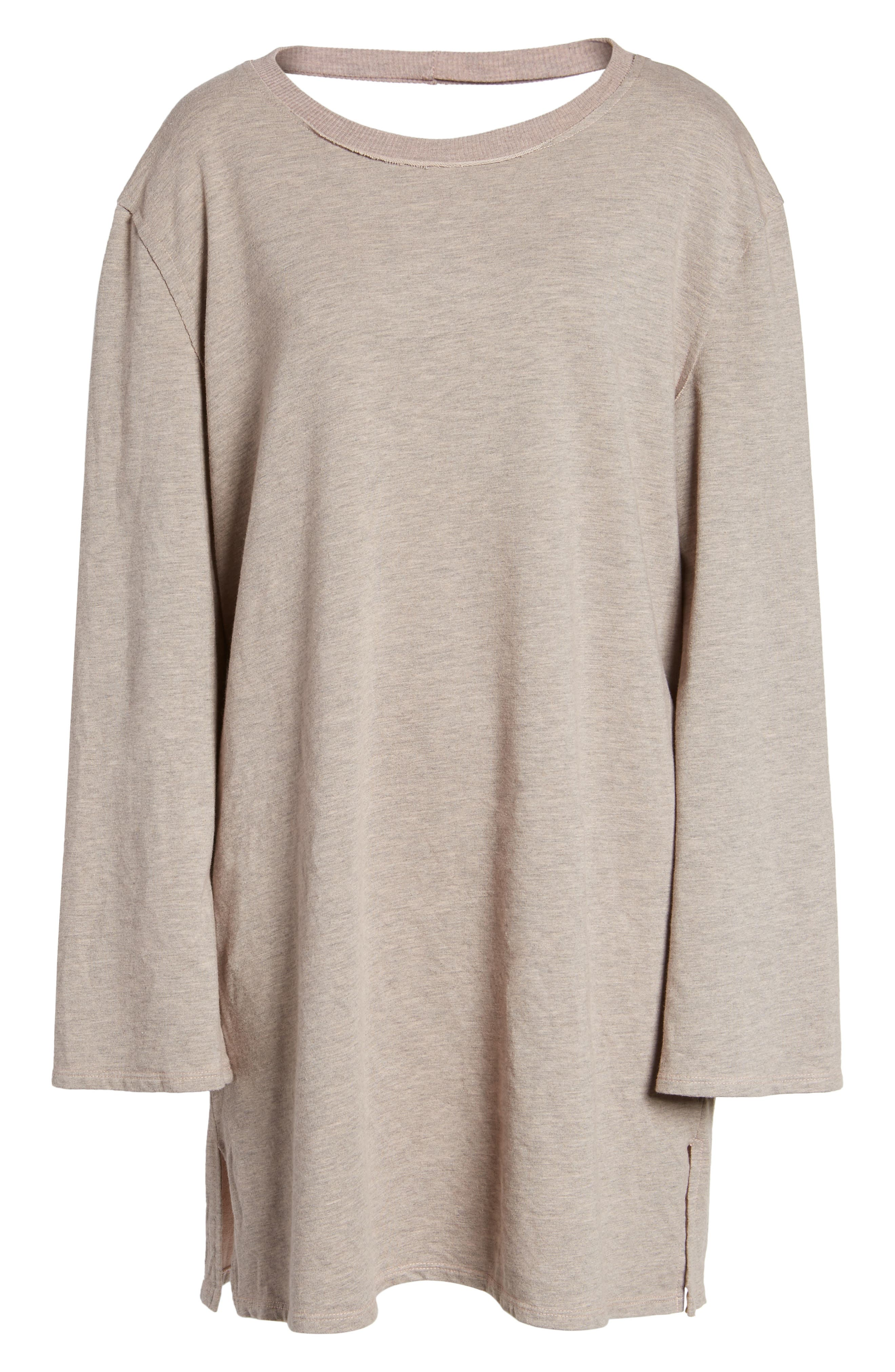 Low Back Sweatshirt Dress,                             Alternate thumbnail 6, color,                             650