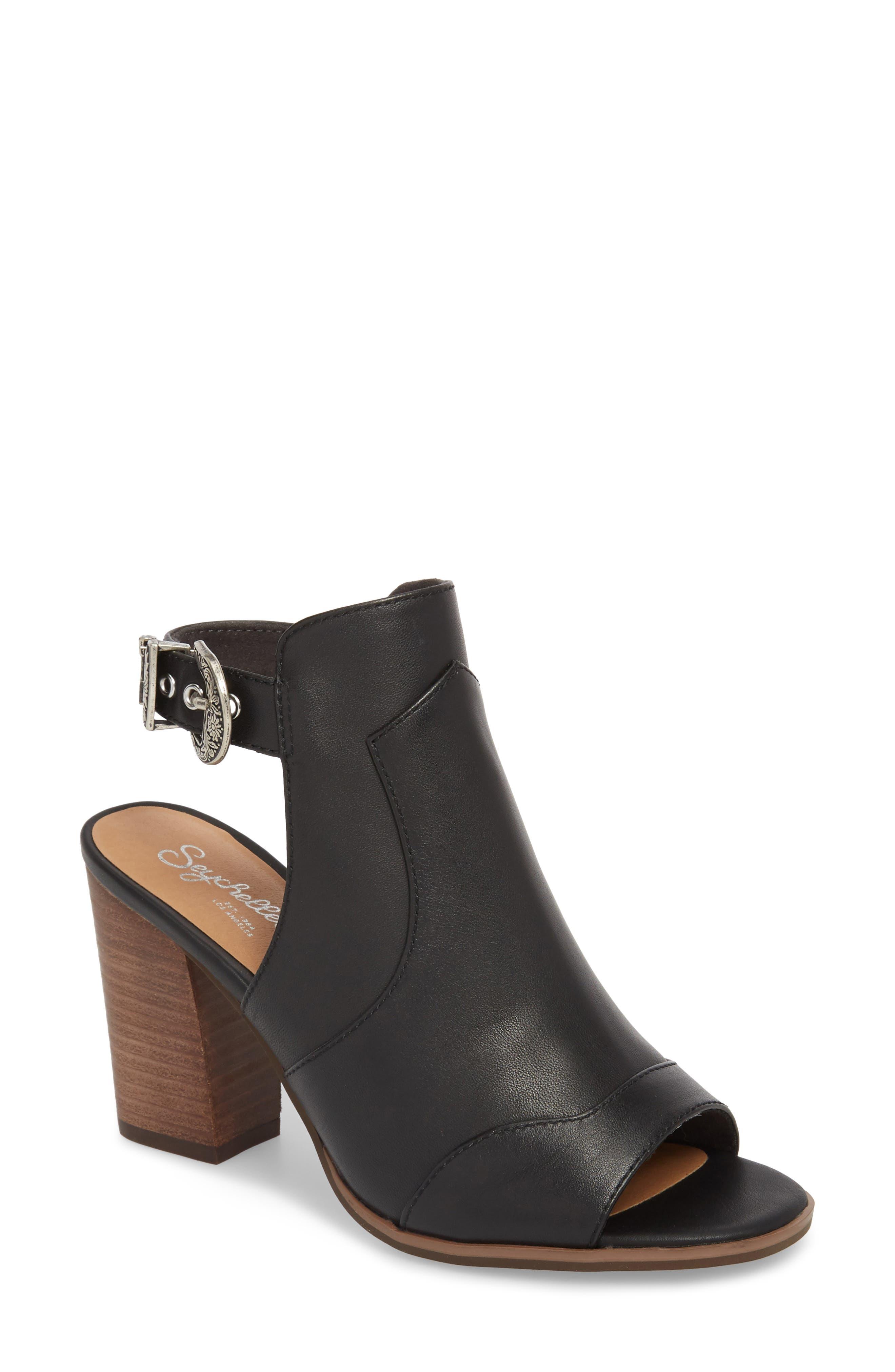Ecosystem Sandal,                         Main,                         color, BLACK LEATHER