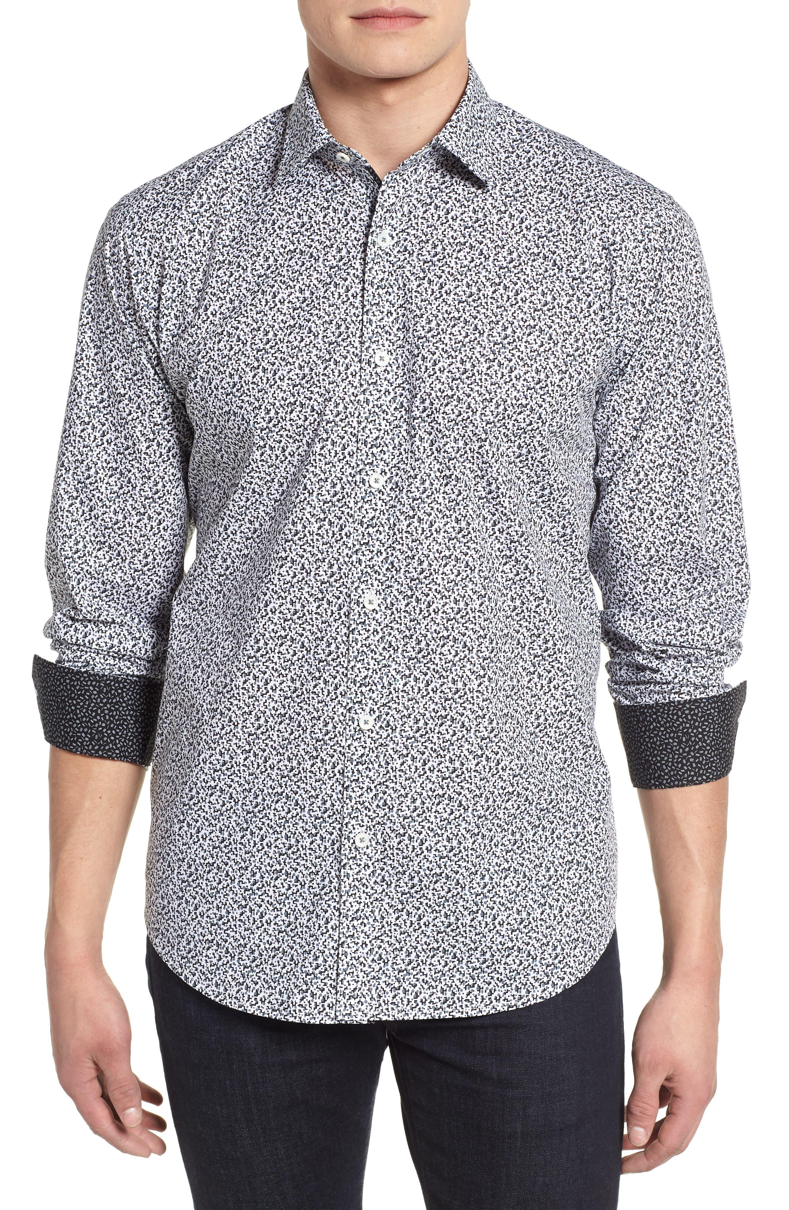 Classic Fit Woven Sport Shirt,                         Main,                         color, 020