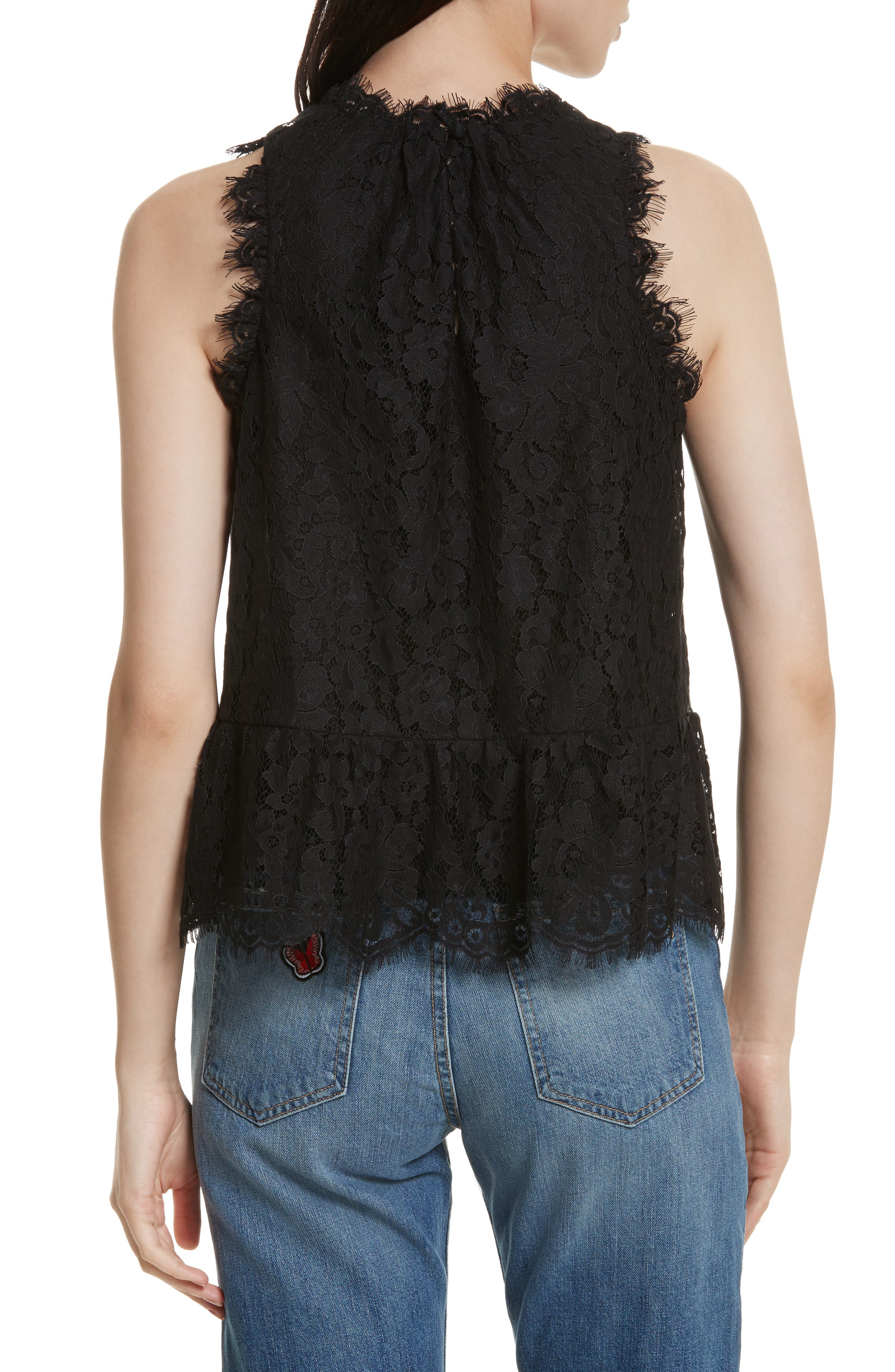 Marineth Lace Top,                             Alternate thumbnail 2, color,                             002
